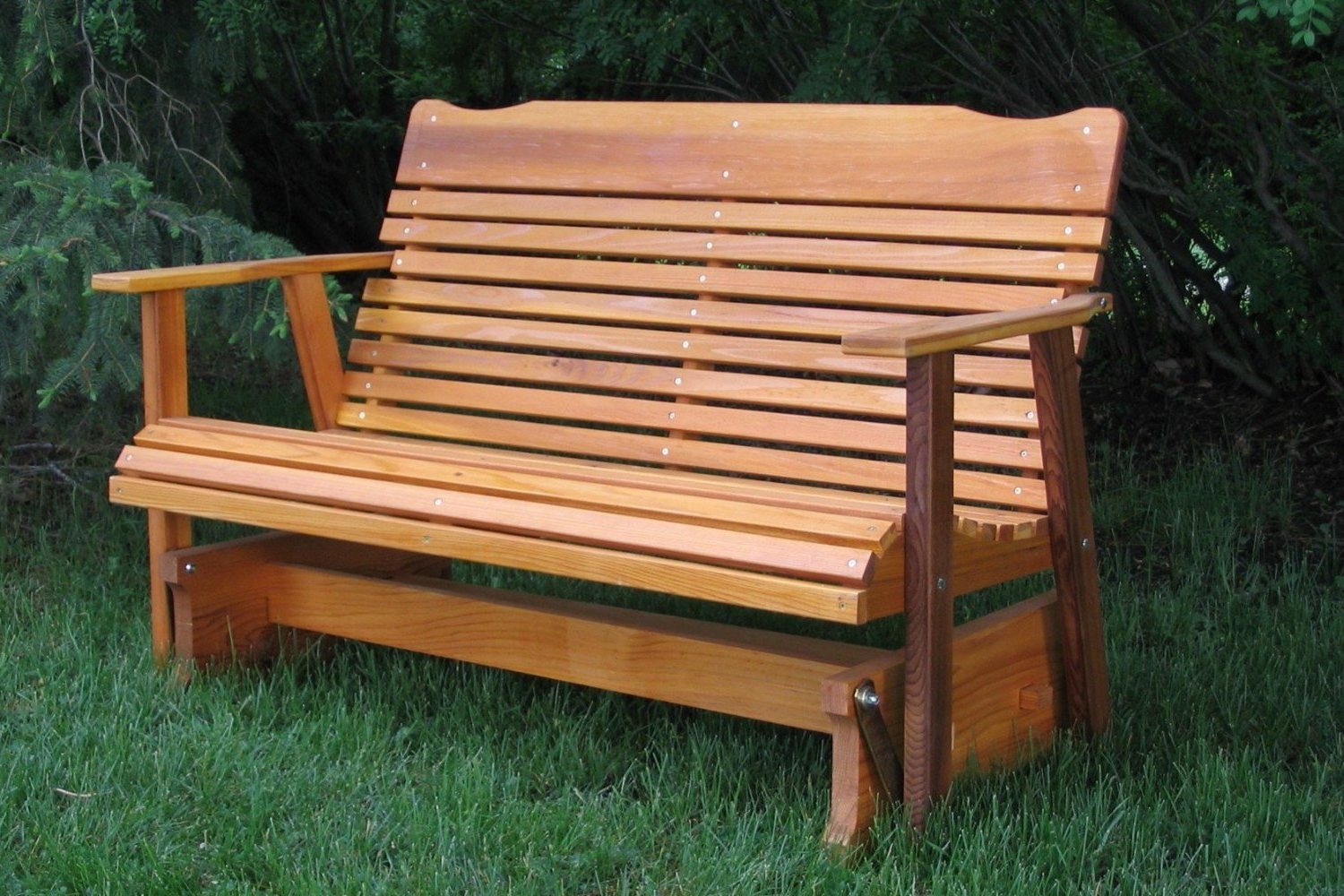 Teak Outdoor Glider Benches With Regard To Most Popular Outdoor Glider Bench White : Outdoor Decorations – What Is (View 23 of 30)