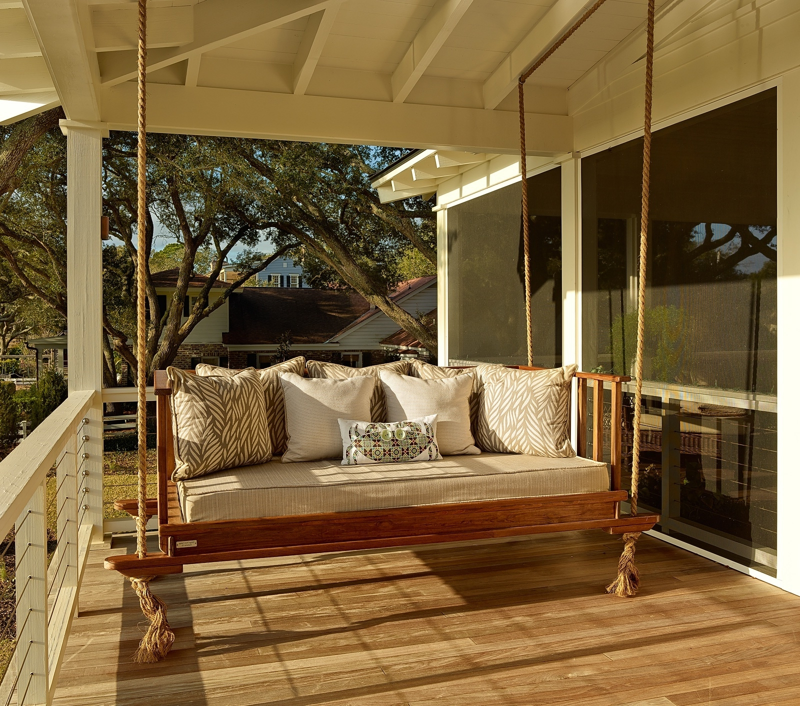 Teak Porch Swings Throughout Preferred Teak Porch Swing With Rope (View 14 of 30)