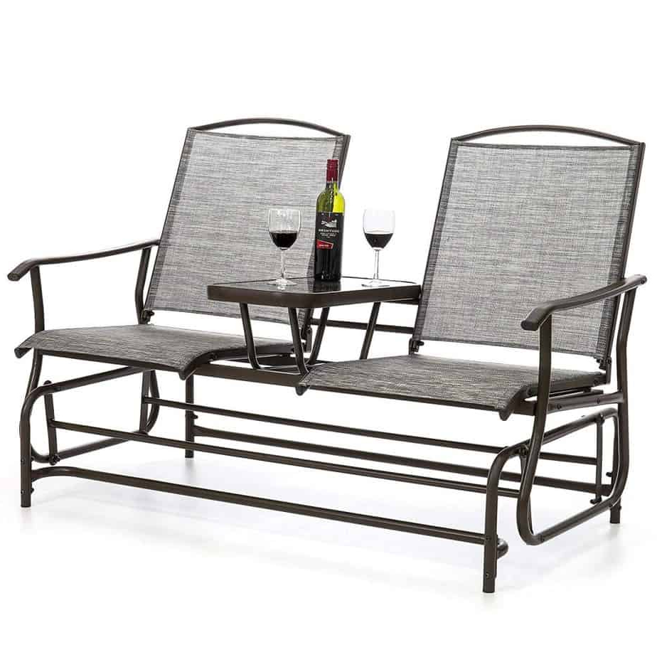 The 10 Best Patio Gliders (2020) With Regard To 2019 2 Person Natural Cedar Wood Outdoor Gliders (Gallery 18 of 30)