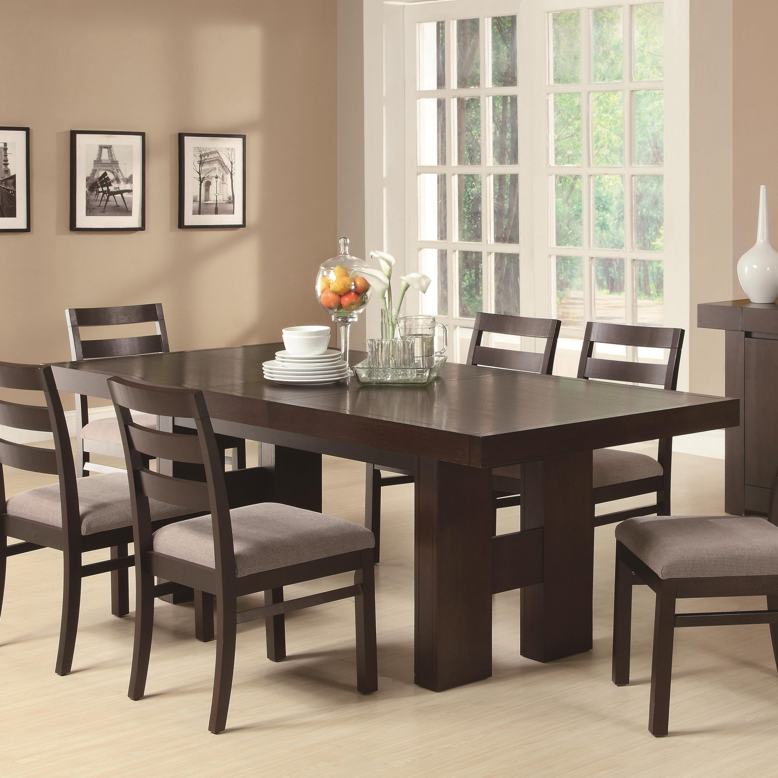 The Classy Regarding Cappuccino Finish Wood Classic Casual Dining Tables (View 26 of 30)