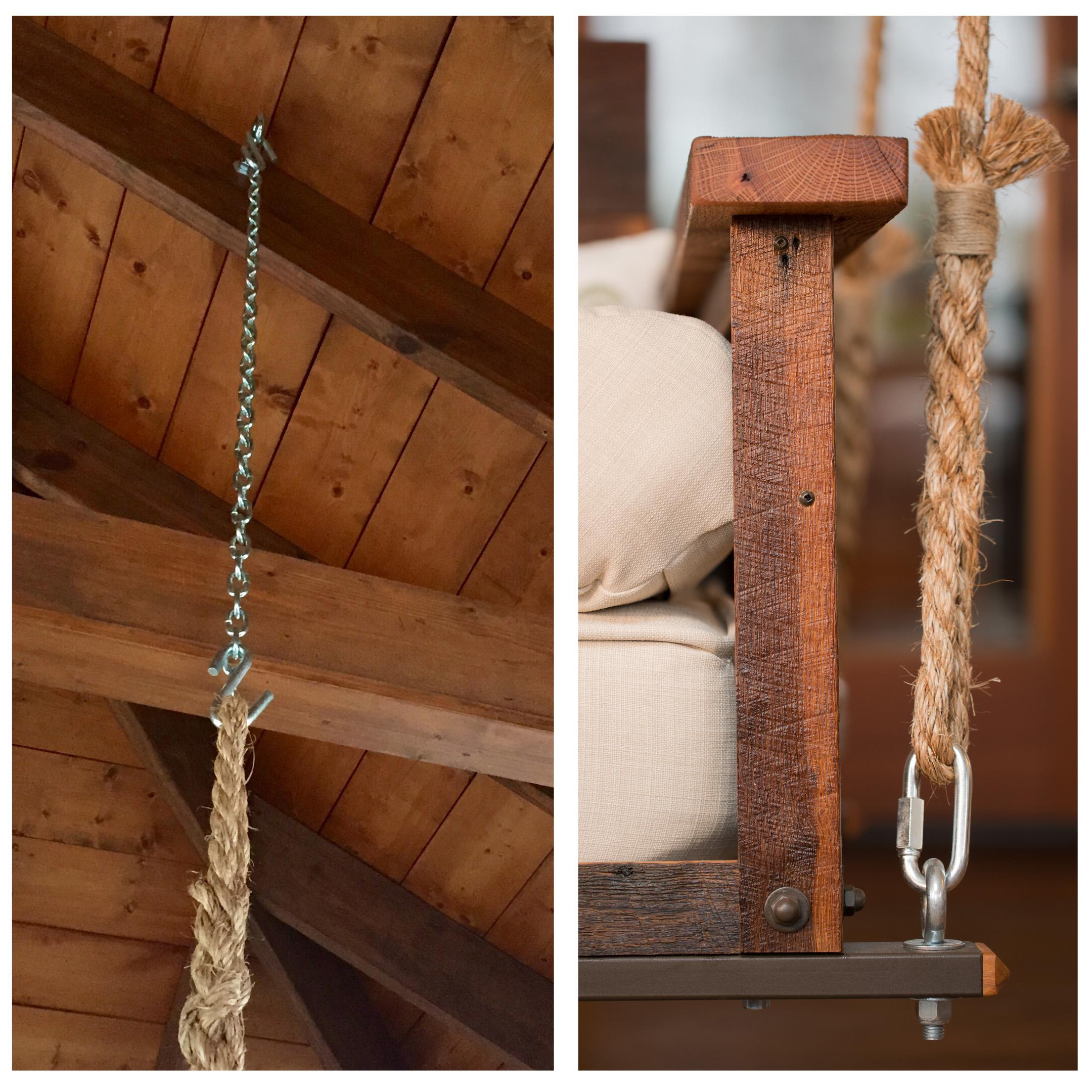 The Craftsman Pine Bed Swing Regarding Favorite Hanging Daybed Rope Porch Swings (Gallery 19 of 30)