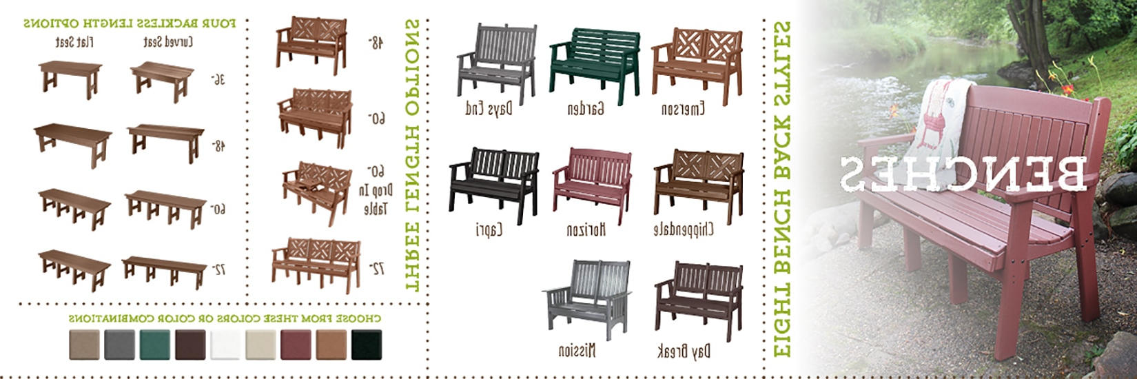 The Yard Regarding Low Back Glider Benches (Gallery 14 of 30)