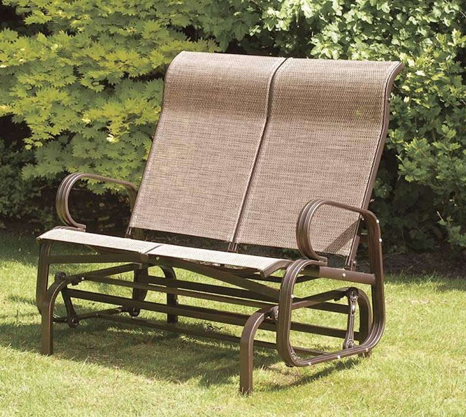 Transcontinental Group Havana Twin Seat Glider With 45 Textilene, Bronze Intended For Most Recent Twin Seat Glider Benches (Gallery 3 of 31)