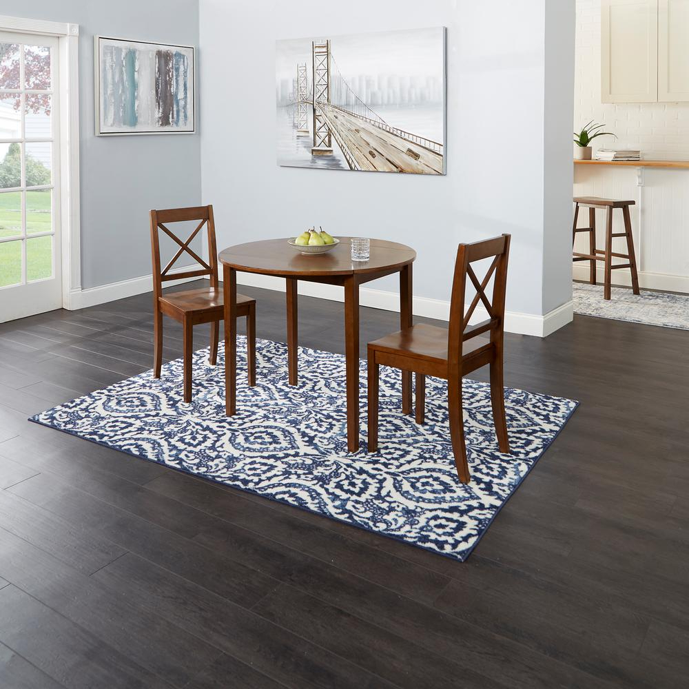 Transitional 3 Piece Drop Leaf Casual Dining Tables Set Pertaining To 2018 Silverwood Furniture Reimagined Murphy 3 Piece Brown Drop (View 22 of 30)