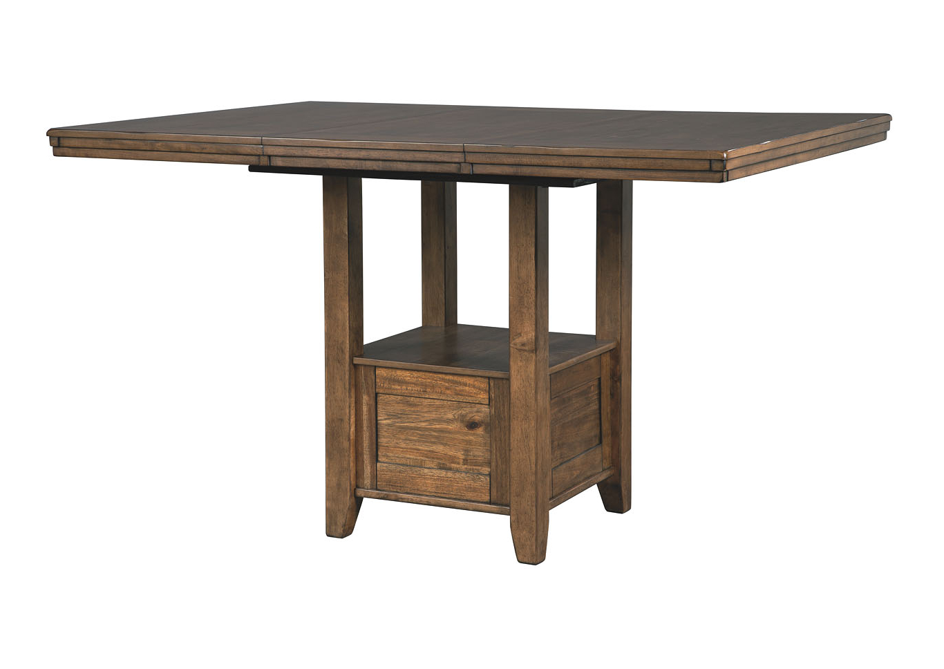 Transitional 4 Seating Double Drop Leaf Casual Dining Tables Within Best And Newest Michael's Discount Furniture Flaybern Brown Rectangular (Gallery 19 of 30)