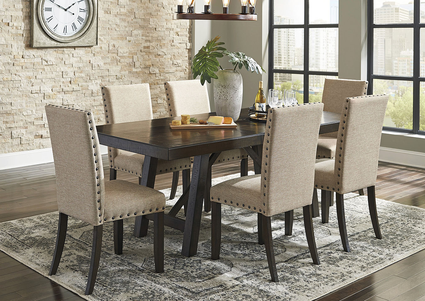 Transitional 6 Seating Casual Dining Tables In Well Liked Bargain Furniture & Appliances – Mi Rokane Light Brown (Gallery 11 of 30)