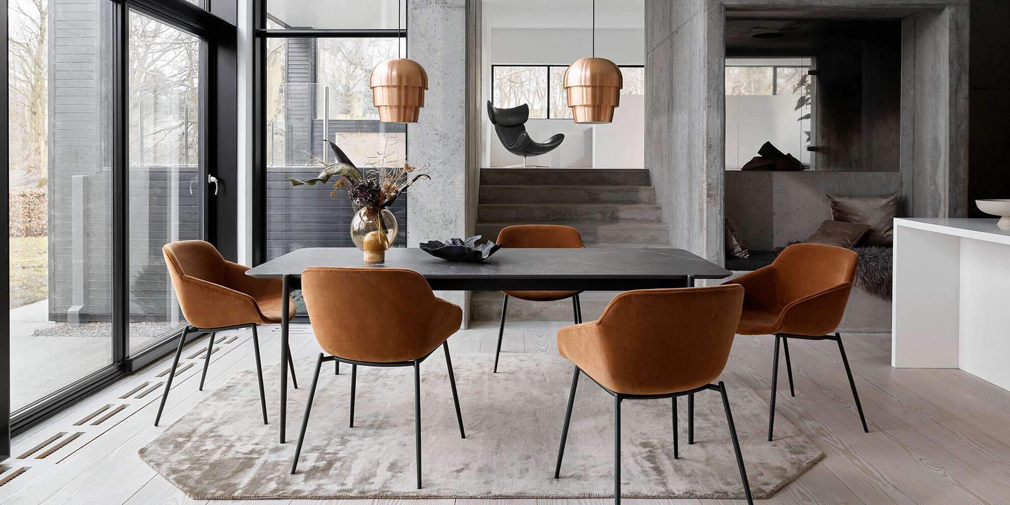 Transitional 8 Seating Rectangular Helsinki Dining Tables Inside Latest Contemporary Danish Furniture (View 25 of 30)