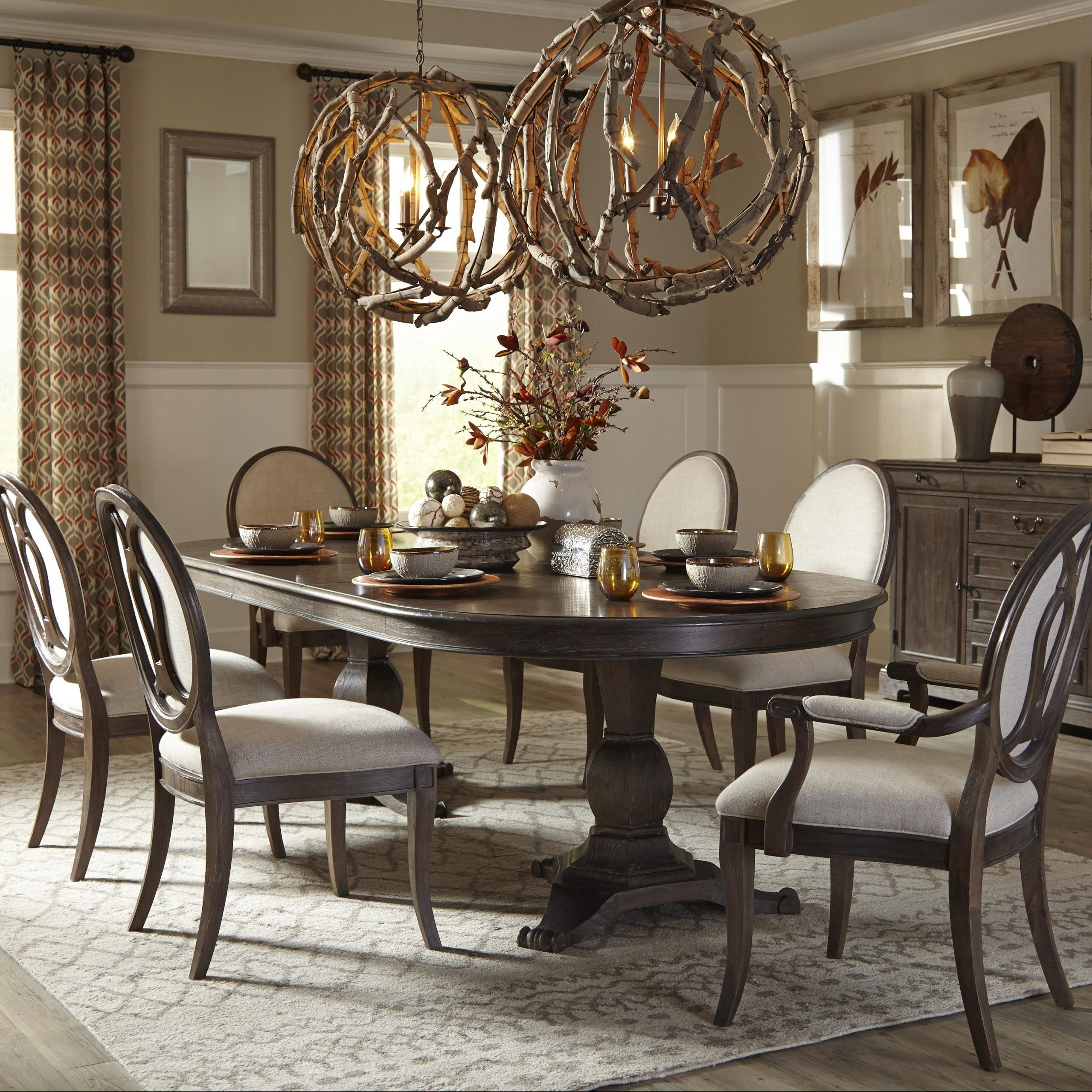 Transitional Antique Walnut Square Casual Dining Tables With Regard To Fashionable 50+ Double Pedestal Dining Table You'll Love In (View 24 of 30)