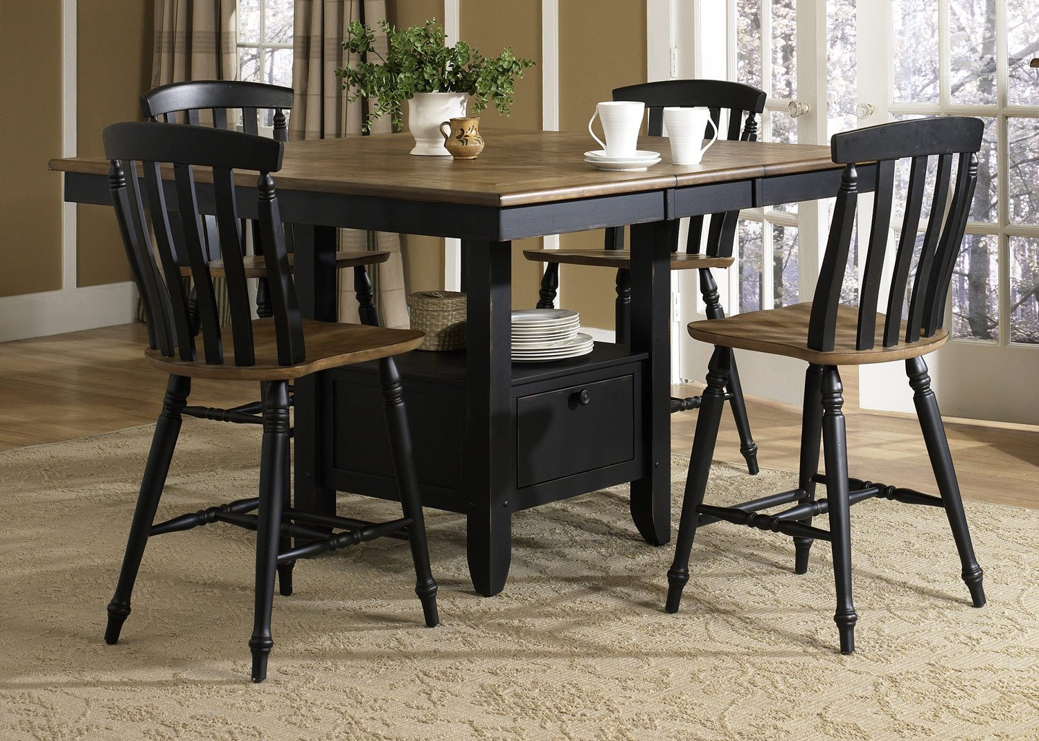 Transitional Driftwood Casual Dining Tables Pertaining To 2017 Amazon – Liberty Furniture Al Fresco Ii Counter Height (View 20 of 30)