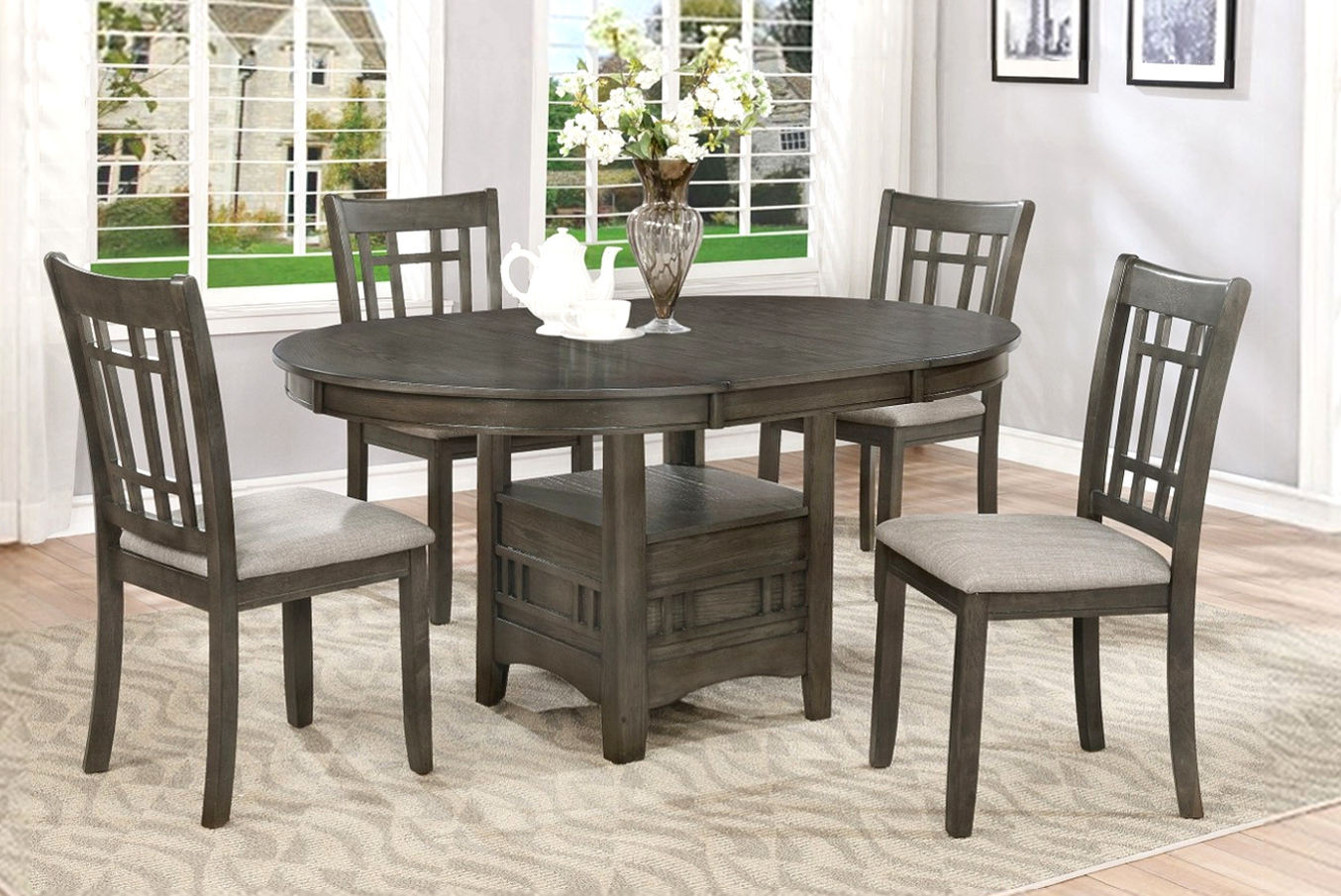 Transitional Driftwood Casual Dining Tables Throughout Most Up To Date Furniture Clearance Center (View 22 of 30)