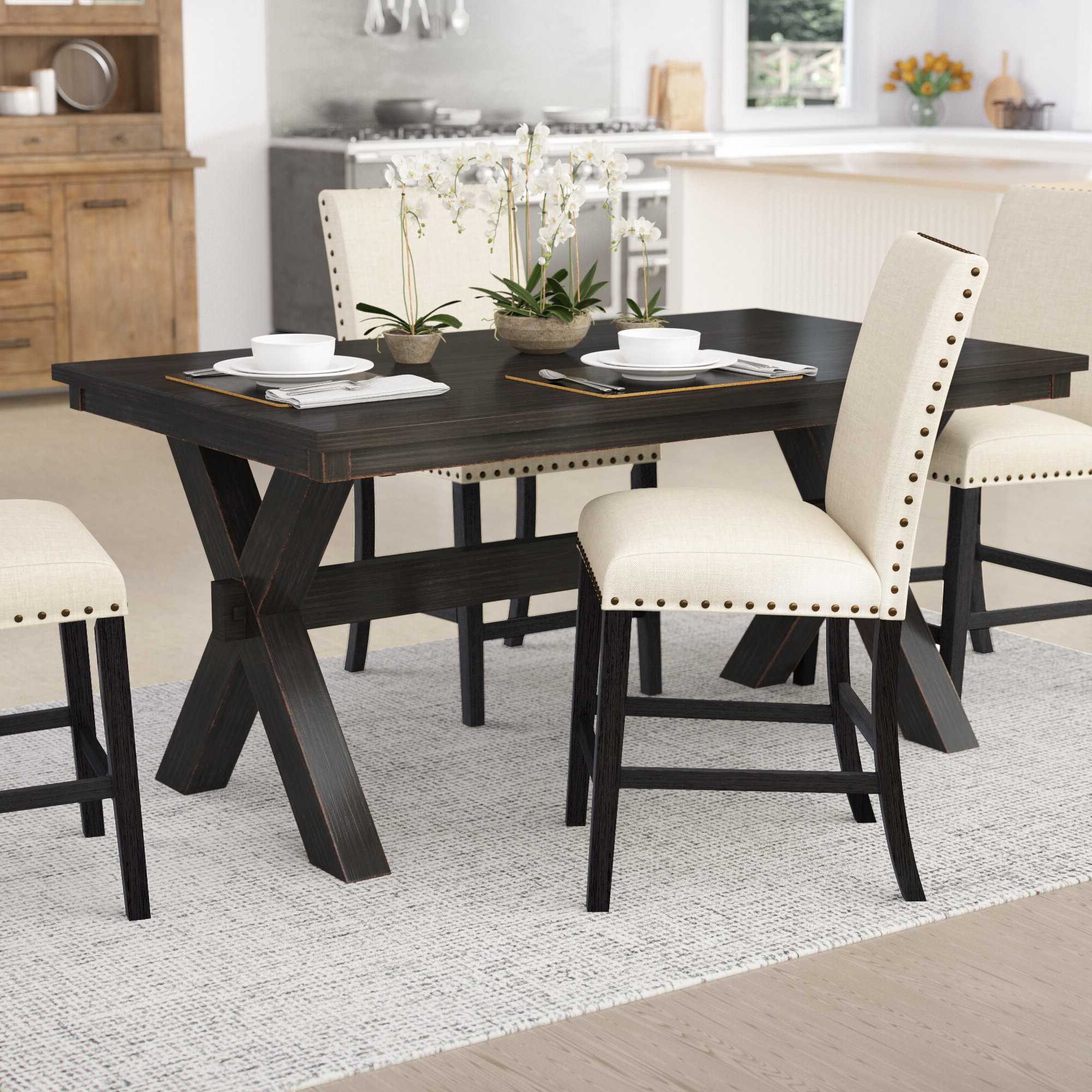 Transitional Driftwood Casual Dining Tables With Well Known Manitou Transitional Dining Table (View 13 of 30)