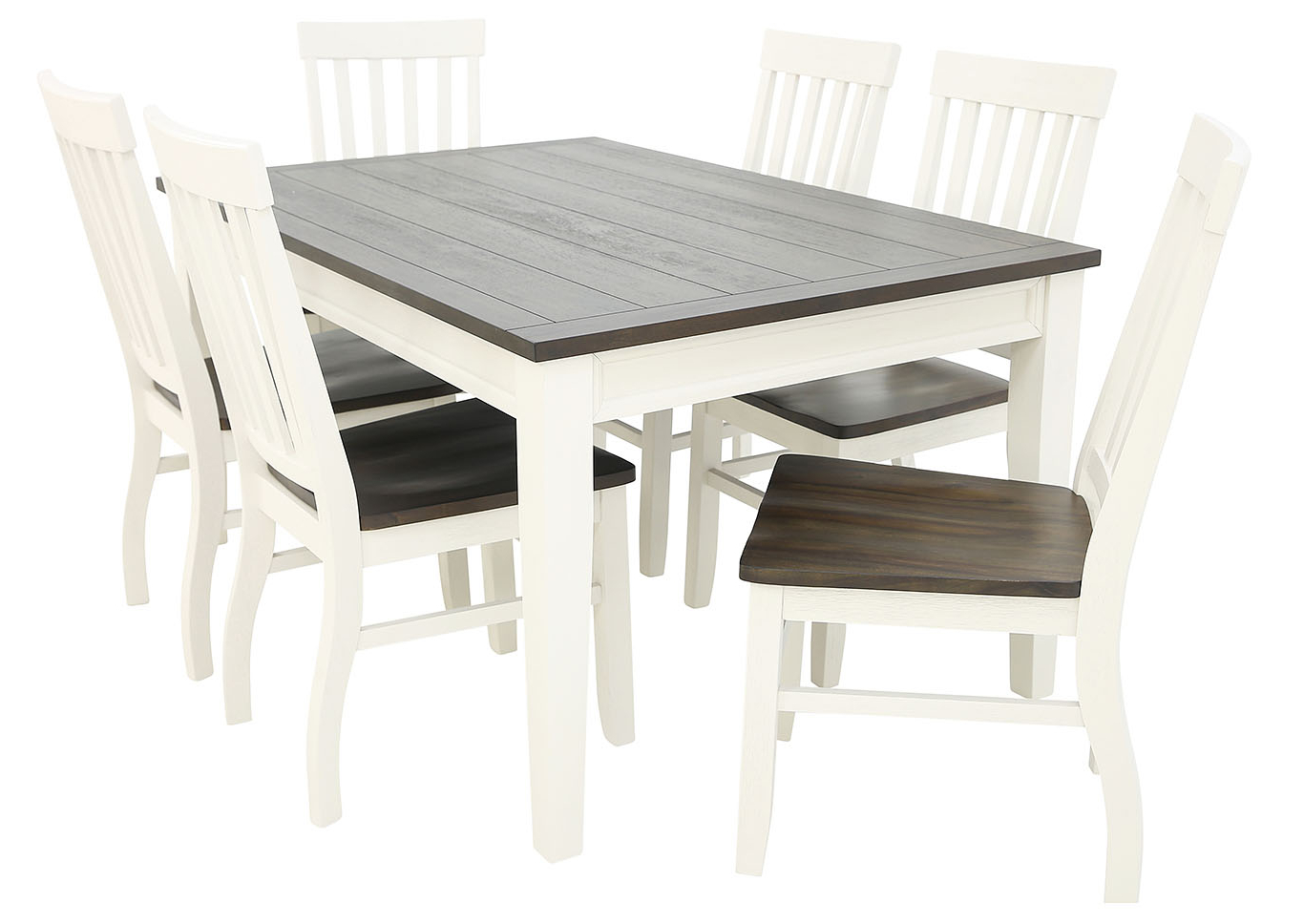 Transitional Driftwood Casual Dining Tables Within Fashionable Ivan Smith Caylie 7 Piece Dining (View 24 of 30)
