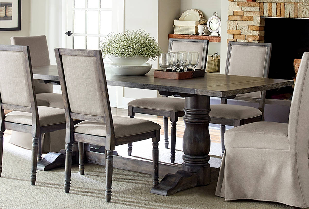 Transitional Rectangular Dining Tables With Regard To Popular Progressive Furniture Muses Dove Grey Rectangle Dining Table (Gallery 7 of 30)