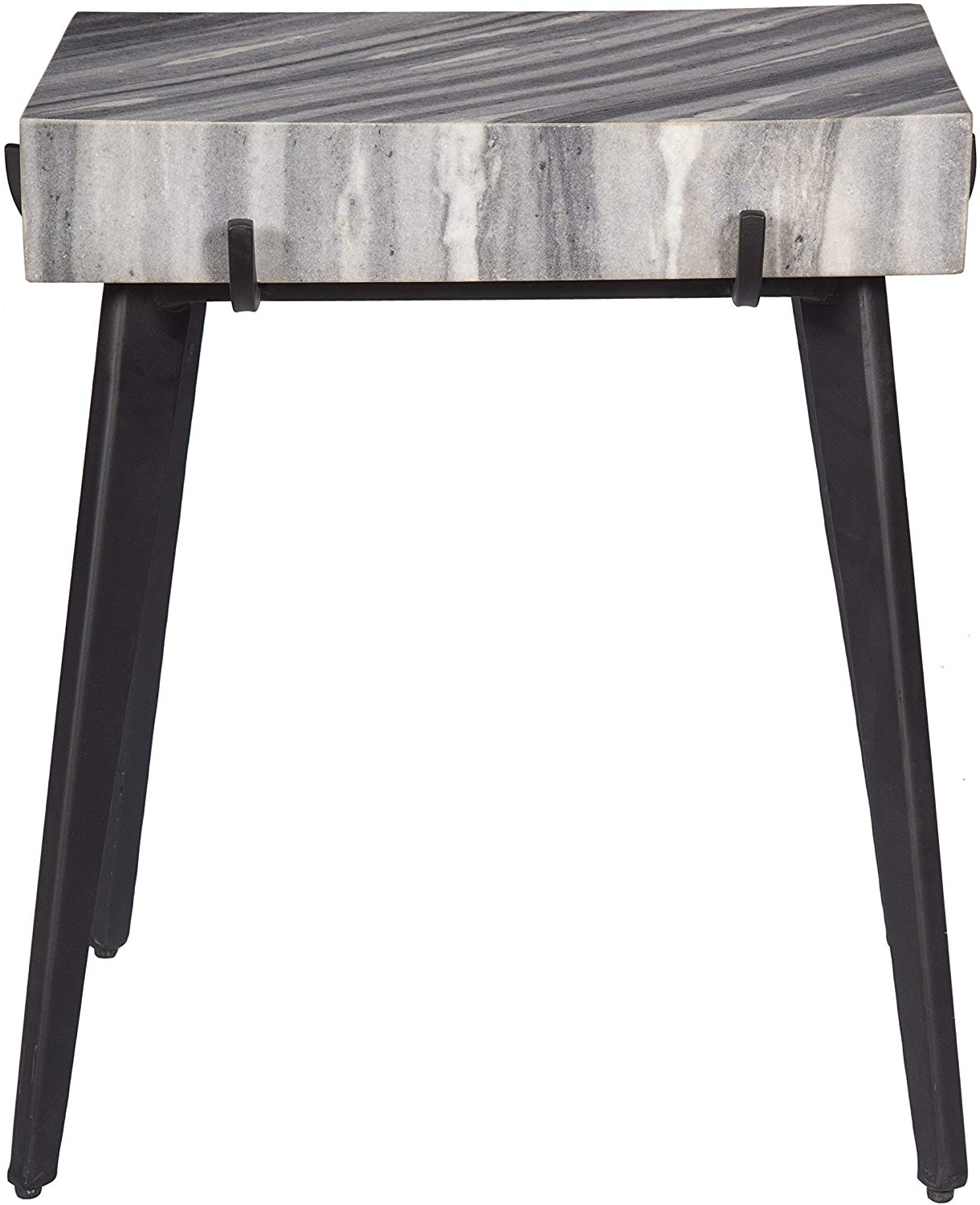 Treasure Trove Accent Table, Grey And Black In Well Known Thick White Marble Slab Dining Tables With Weathered Grey Finish (View 4 of 30)