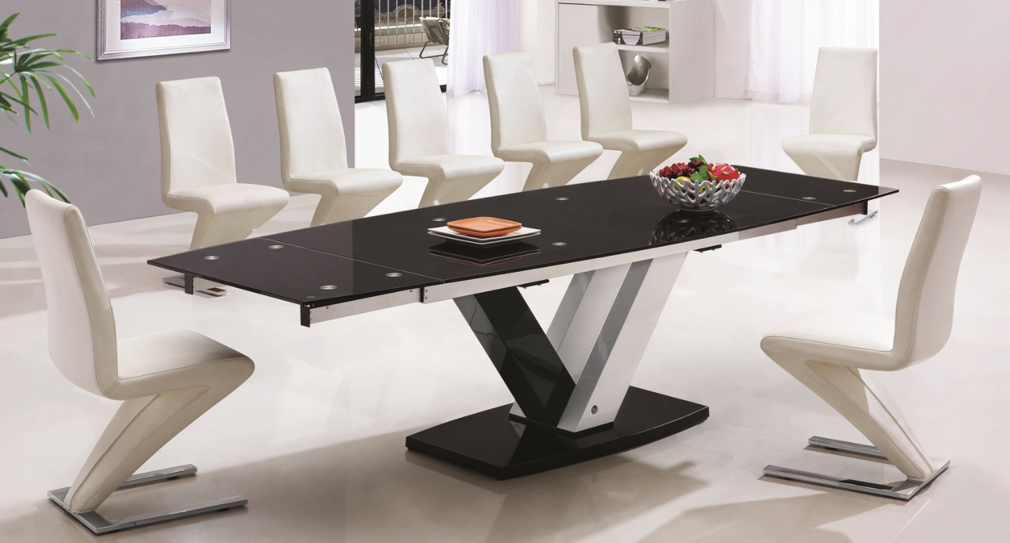 Trendy 10 Seat Dining Table And Chairs : Modern Kitchen Furniture Pertaining To Contemporary 4 Seating Square Dining Tables (View 27 of 30)