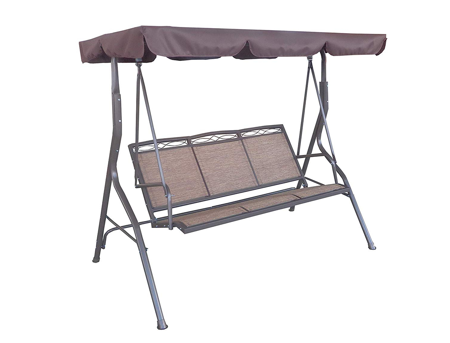 Trendy 2 Person Outdoor Convertible Canopy Swing Gliders With Removable Cushions Beige Throughout Amazon : Cc Outdoor Living (View 29 of 30)