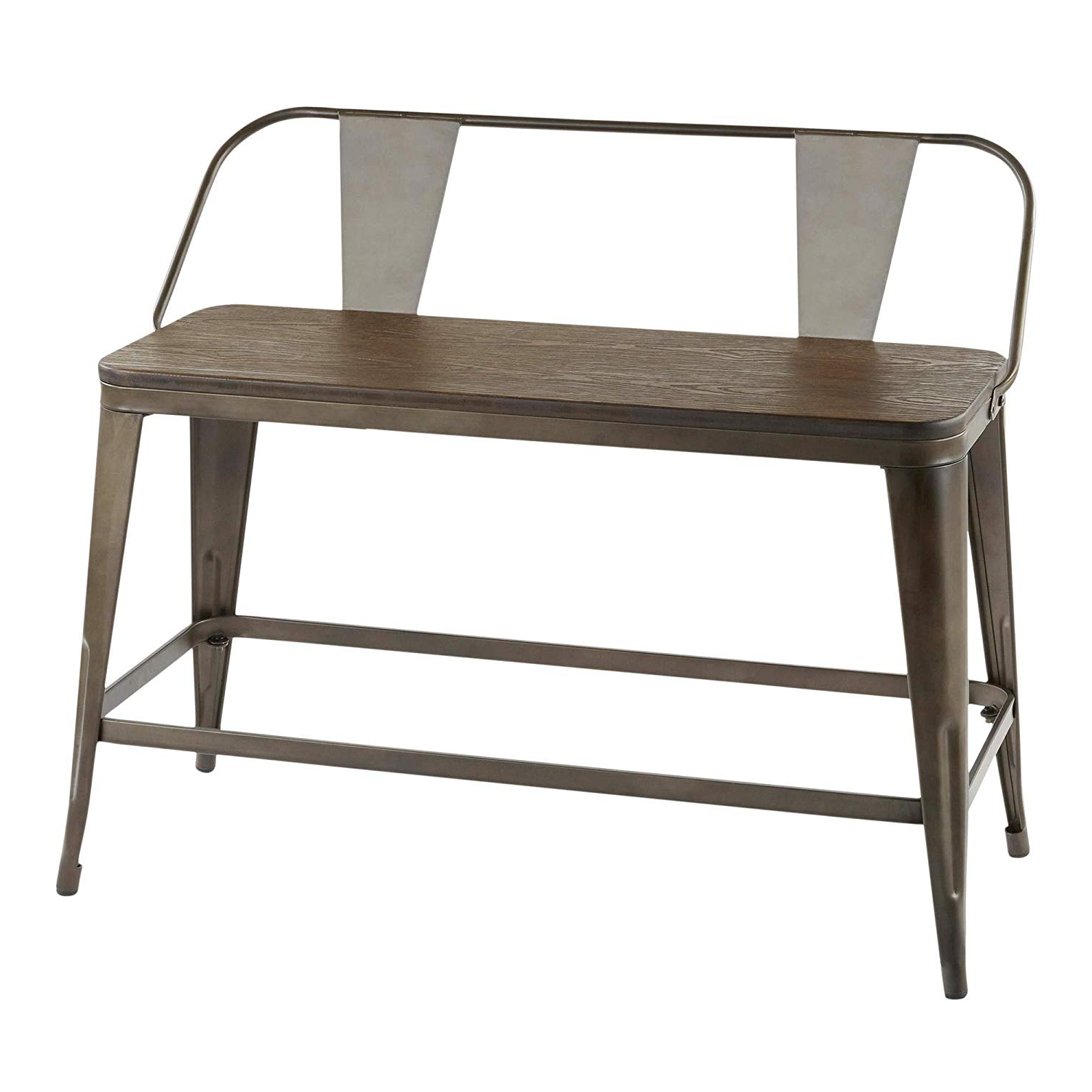 Trendy Amazon: Lumisource Counter Bench In Antique And Espresso Inside Vintage Cream Frame And Espresso Bamboo Dining Tables (View 13 of 30)