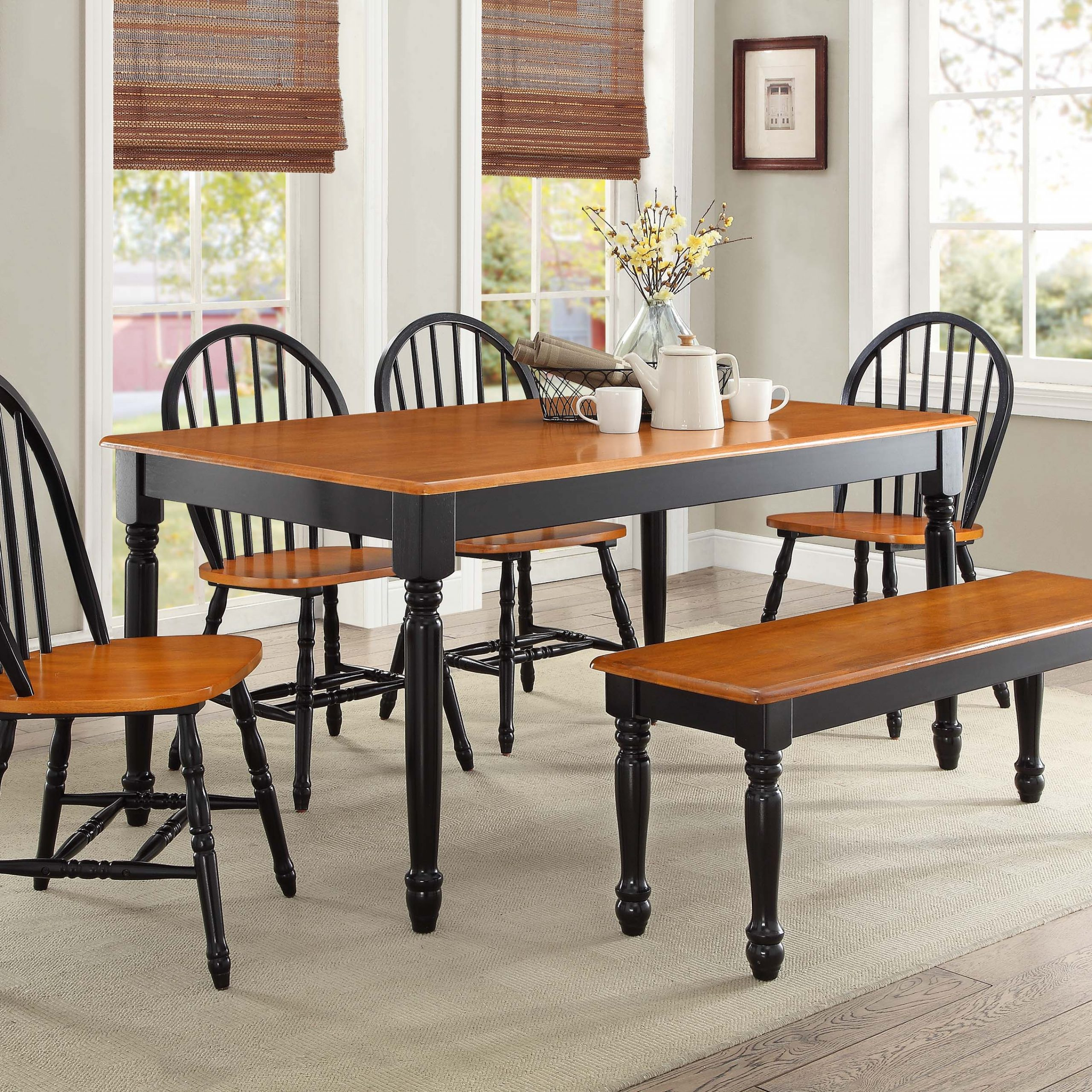 Trendy Antique Black Wood Kitchen Dining Tables With Regard To Kitchen And Dining Room Chairs Wood : Kitchen And Dining (View 18 of 30)
