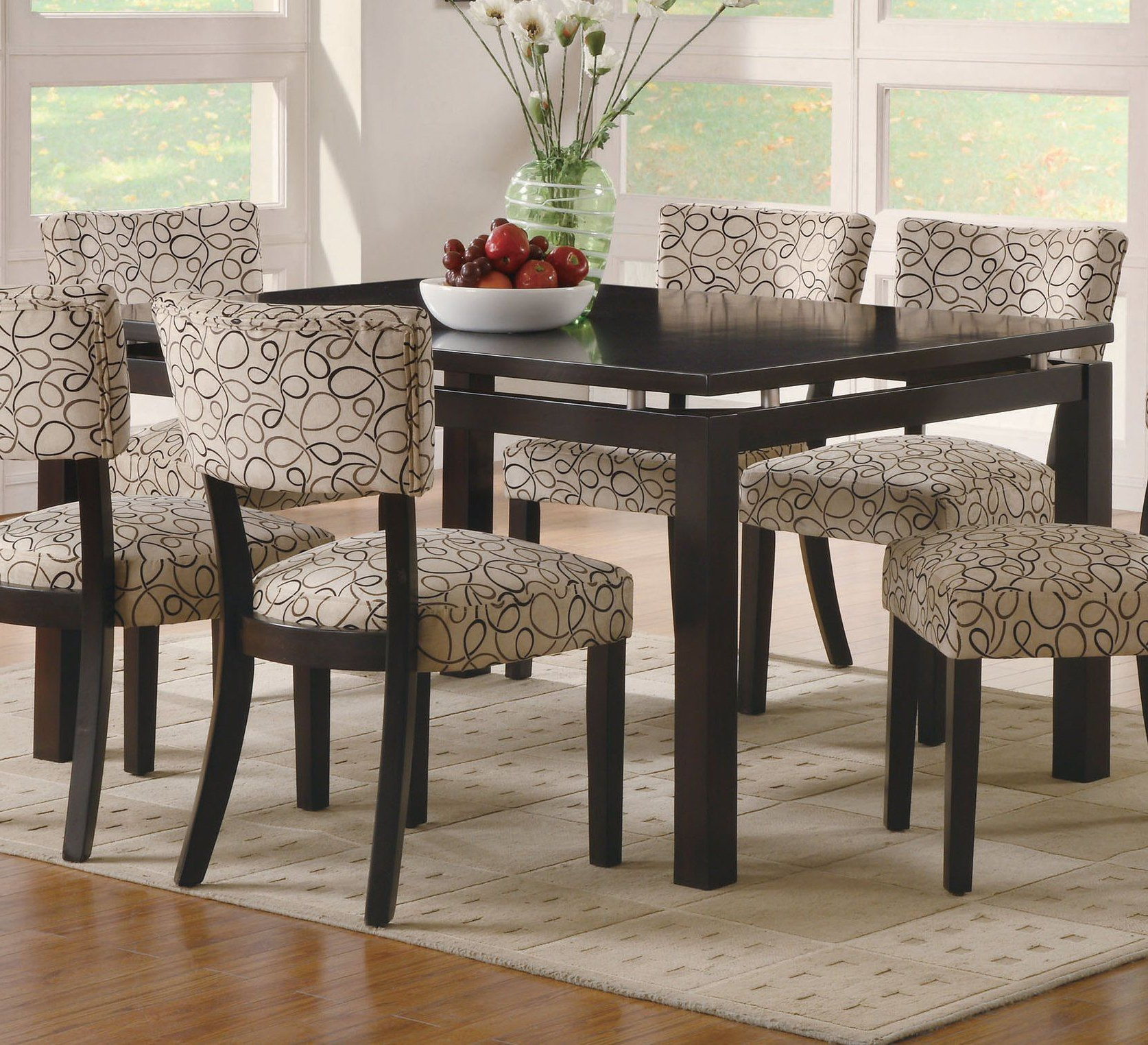Trendy Coaster Cappuccino Rectangular Dining Table With Floating Pertaining To Transitional Rectangular Dining Tables (View 27 of 30)