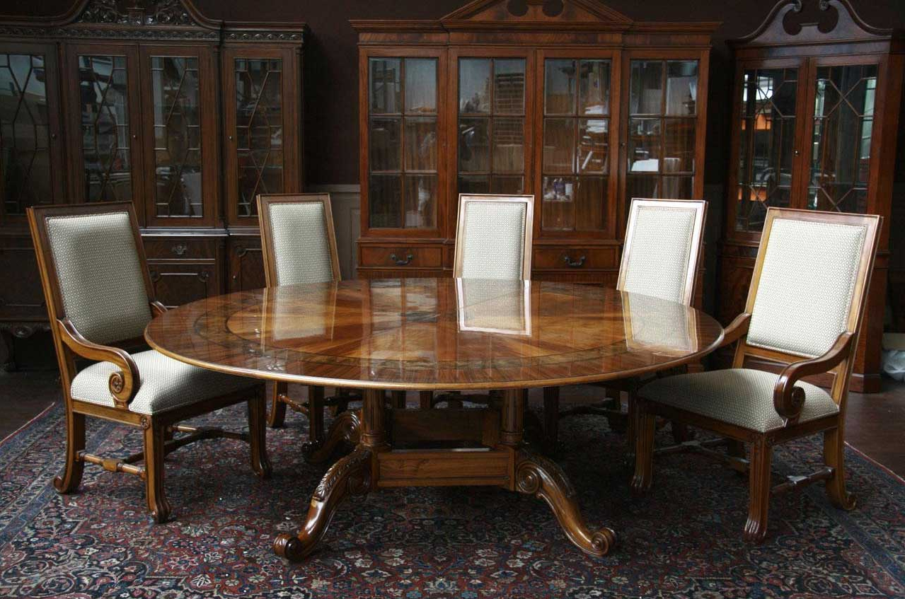 Trendy Elegance Large Round Dining Tables Within Big Family And Your Guestslarge Round Dining Room Table Mahogany (View 9 of 30)