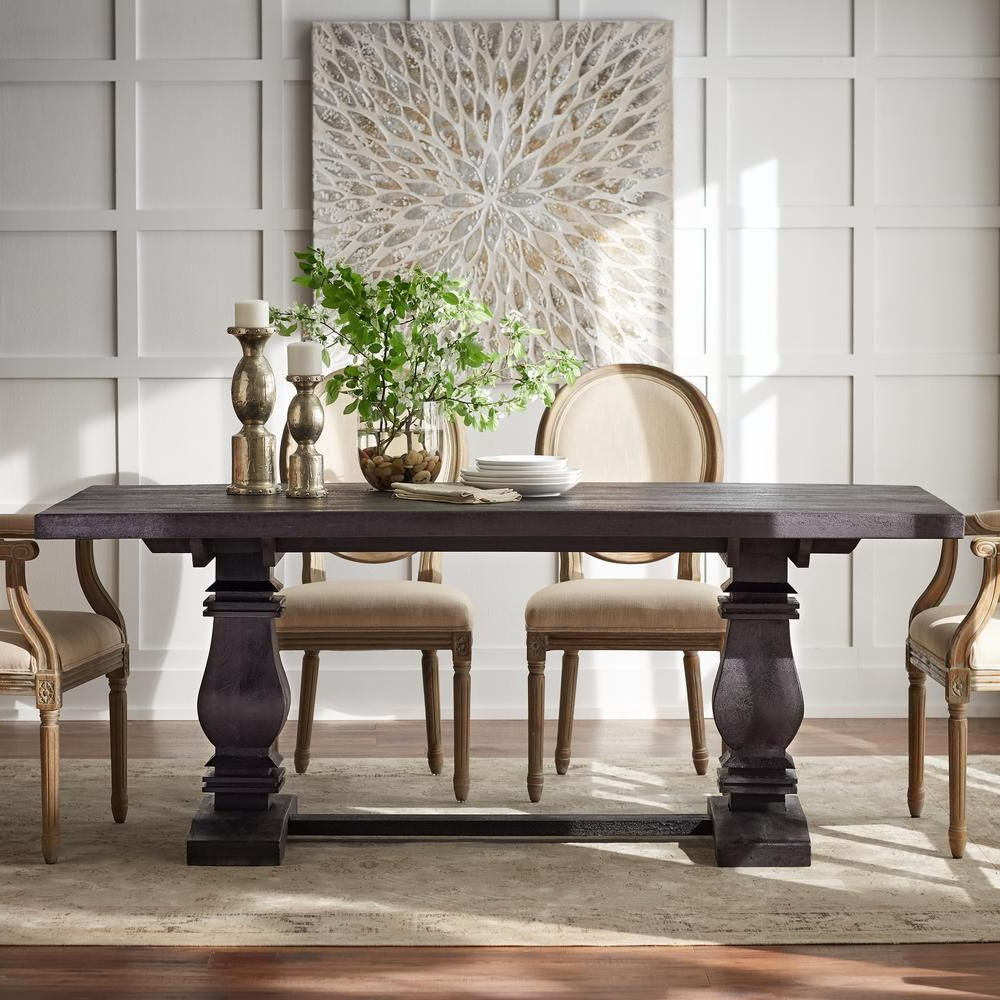Trendy Home Decorators Collection Aldridge Antique Walnut Nb 063Wb With Transitional Antique Walnut Square Casual Dining Tables (View 5 of 30)