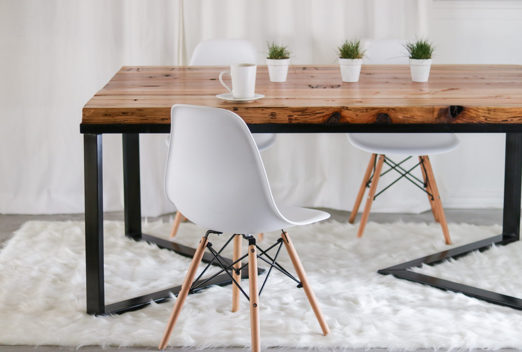 Trendy How I Made My Dining Table – Under $60 Diy Table – Scandinavian With Iron Wood Dining Tables (View 27 of 30)