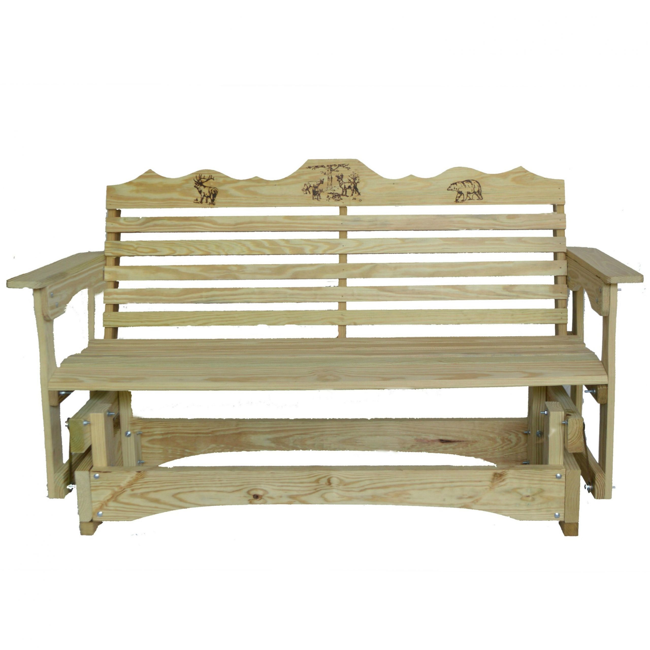 Trendy Iron Grove Slatted Glider Benches In Glider Bench (Gallery 6 of 30)