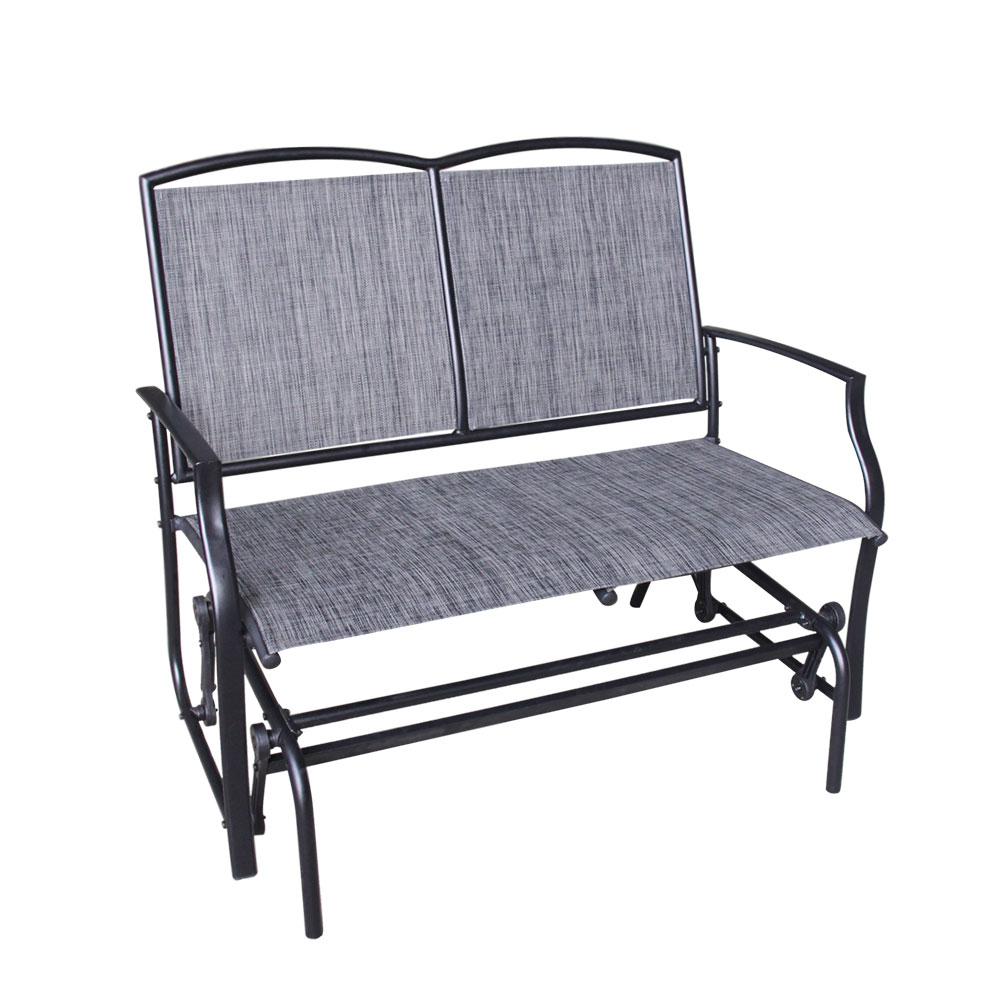 Trendy Metal Powder Coat Double Seat Glider Benches Throughout Melbourne Double Glider Steel Zinc Coated – Dura Housewares (View 28 of 30)
