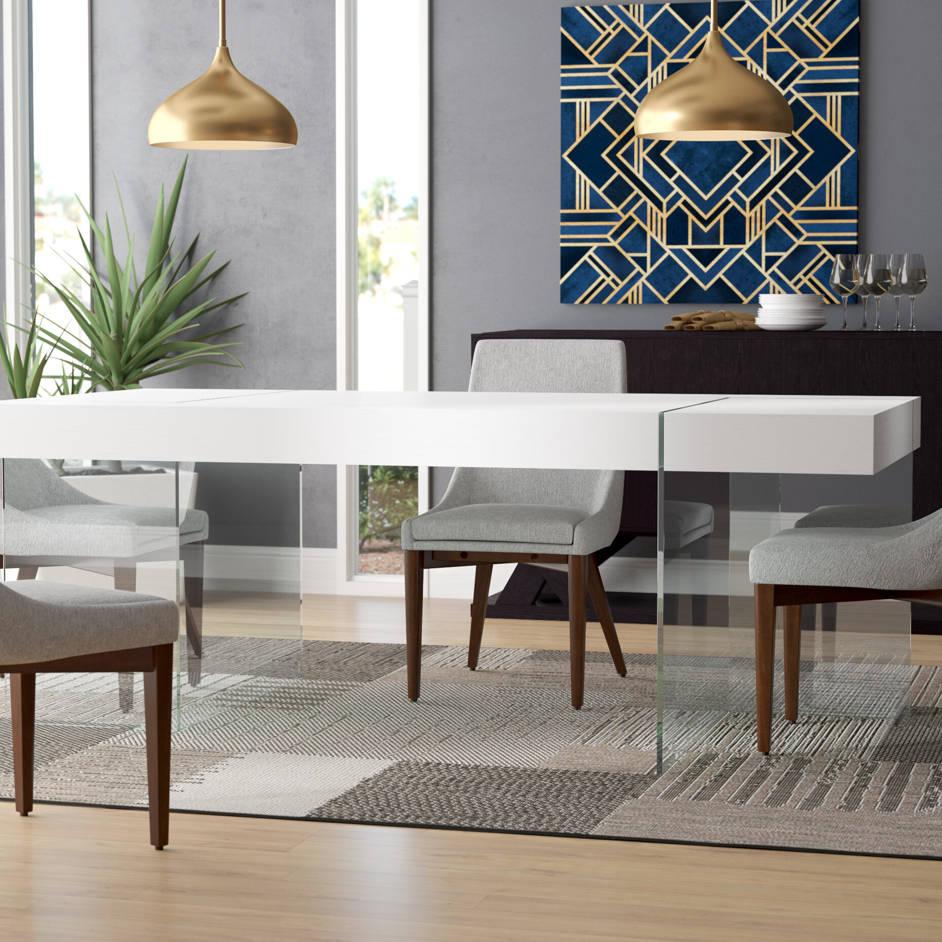 Trendy Modern Dining Tables With Regard To Domenica Modern Dining Table (View 13 of 30)
