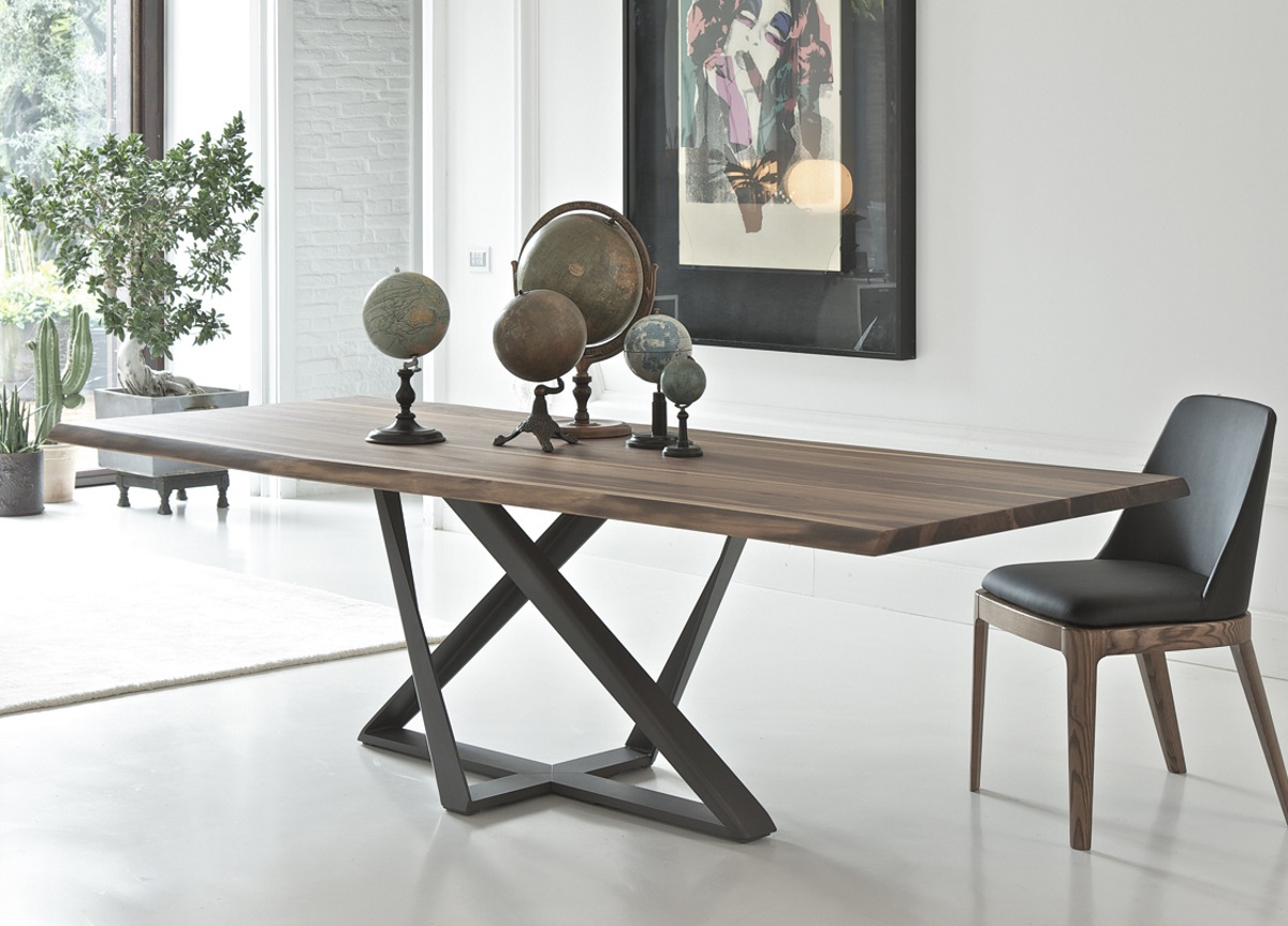 Trendy Modern Dining Tables Within Bontempi Millennium Wood Dining Table (View 9 of 30)