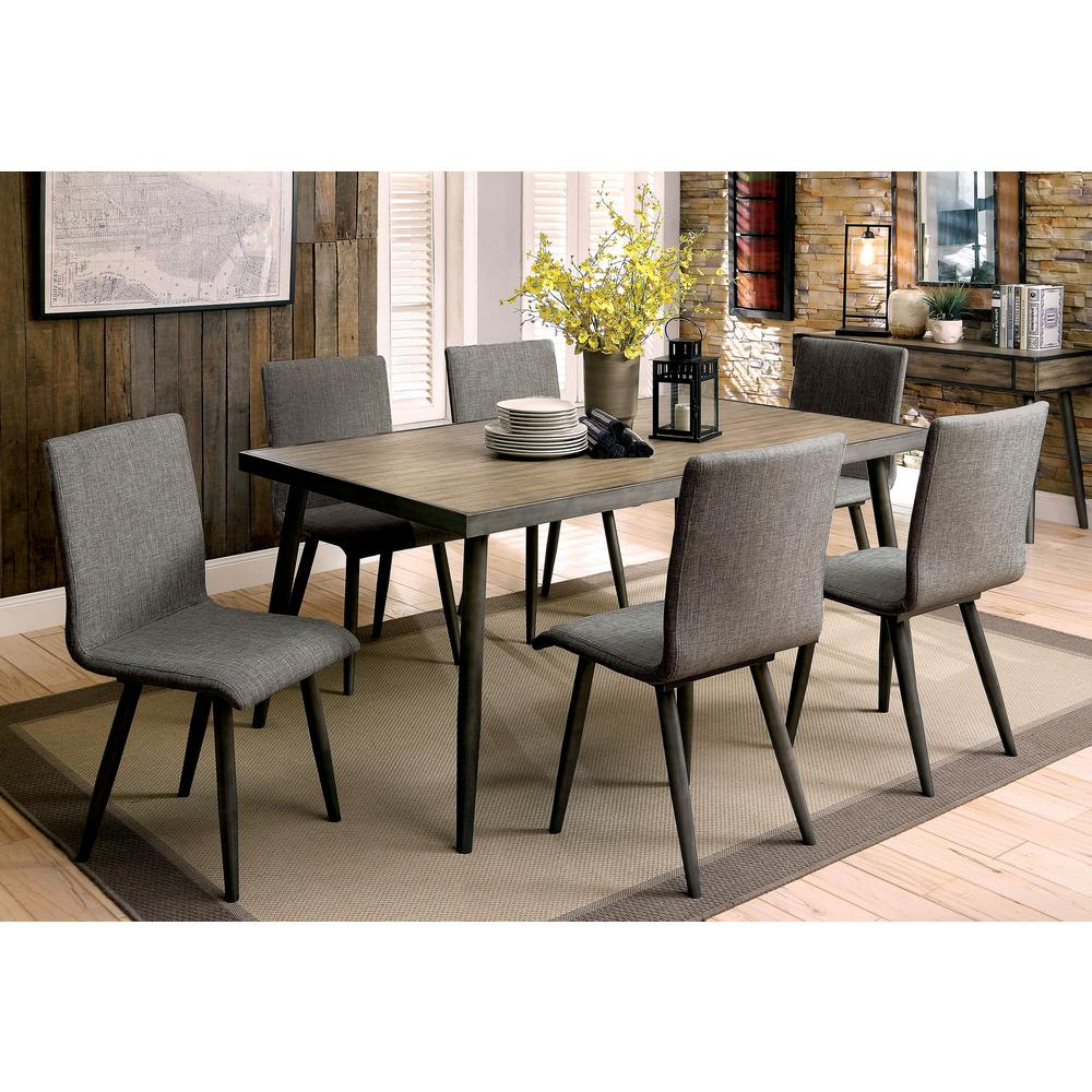 Trendy Modern Dining Tables Within Vilhelm I Gray Mid Century Modern Style Dining Table (View 17 of 30)