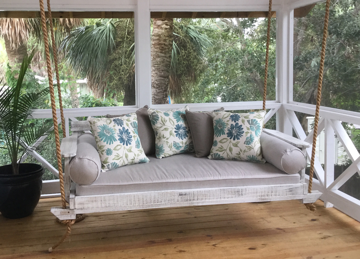 Trendy Noah Porch Swing In Four Sizes For Sale – Cottage & Bungalow Regarding Nautical Porch Swings (Gallery 21 of 30)