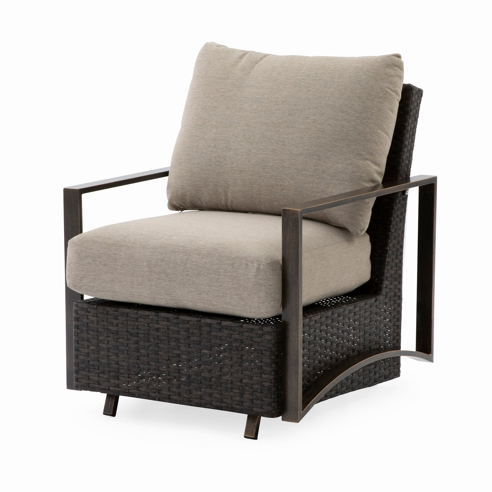 Trendy Outdoor Belham Living Santos Metal Deep Seating Glider Chair Within Padded Sling Double Gliders (Gallery 25 of 30)