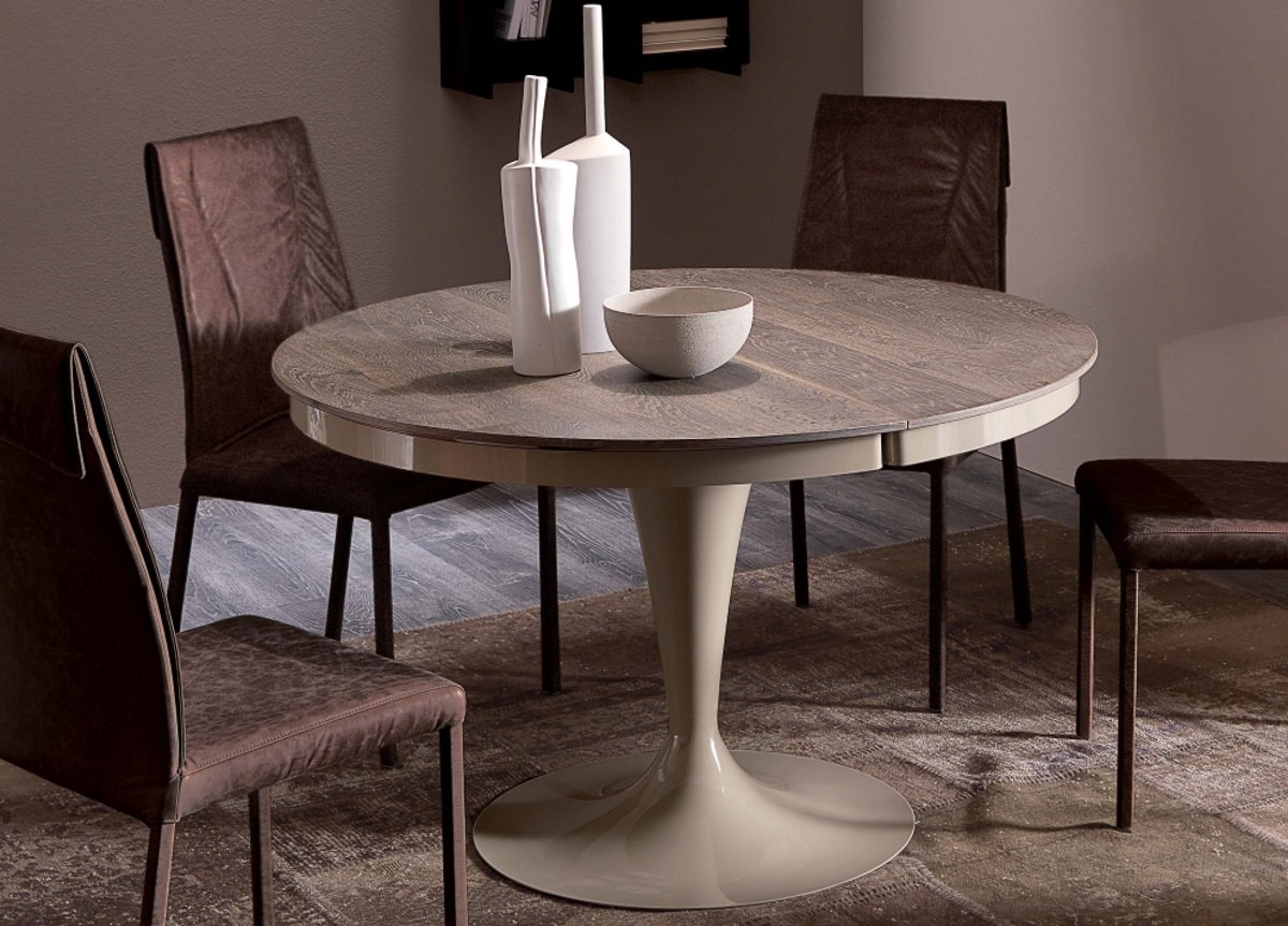 Trendy Ozzio Eclipse Extending Dining Table In Wood Intended For Eclipse Dining Tables (View 7 of 30)