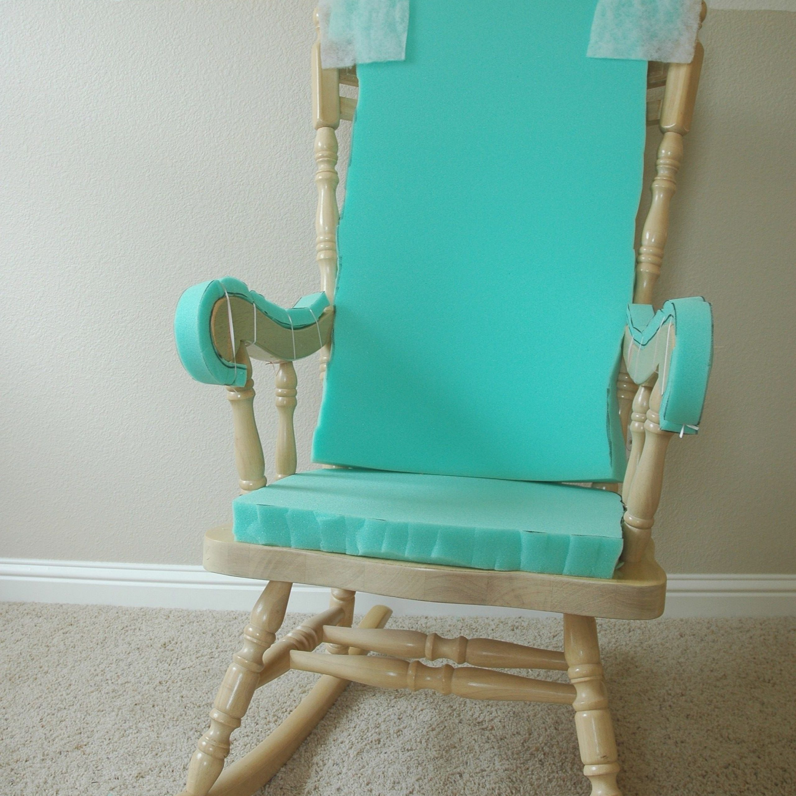 Trendy Rocking Benches With Cushions With Adding Comfort To A Wooden Rocking Chair – Part One (View 24 of 30)