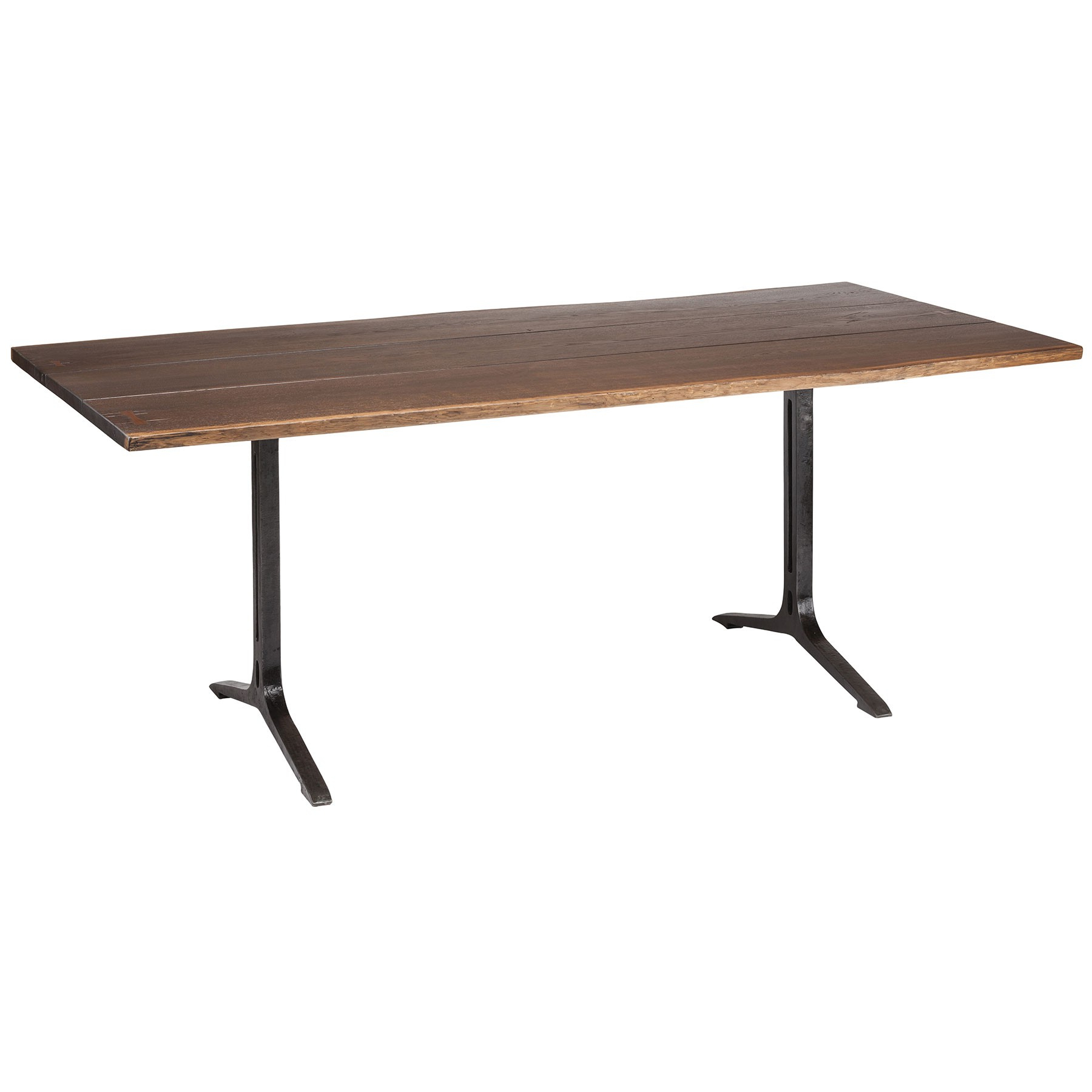 Trendy Samara Dining Table – Seared Oak / Black With Regard To Dining Tables In Smoked Seared Oak (Gallery 4 of 30)