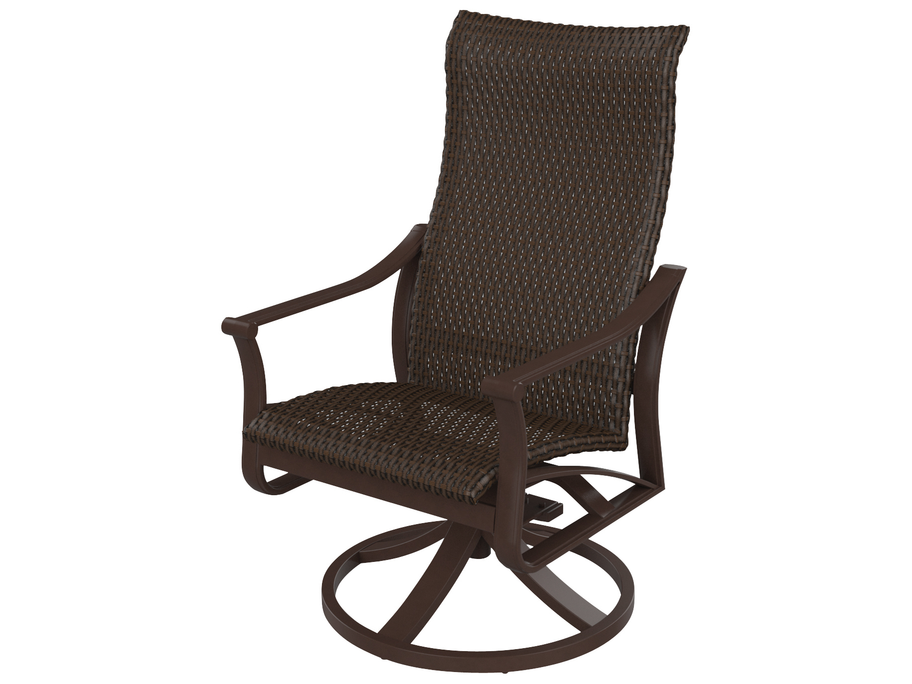 Trendy Tropitone Corsica Woven High Back Swivel Rocker Intended For Woven High Back Swivel Chairs (View 14 of 30)