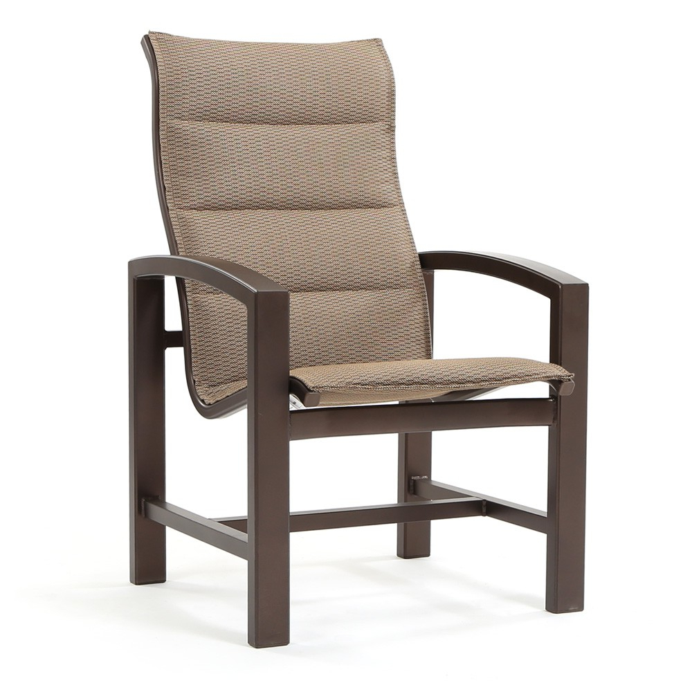 Tropitone Lakeside Padded Sling High Back Dining Chair Regarding Favorite Padded Sling High Back Swivel Chairs (Gallery 18 of 30)