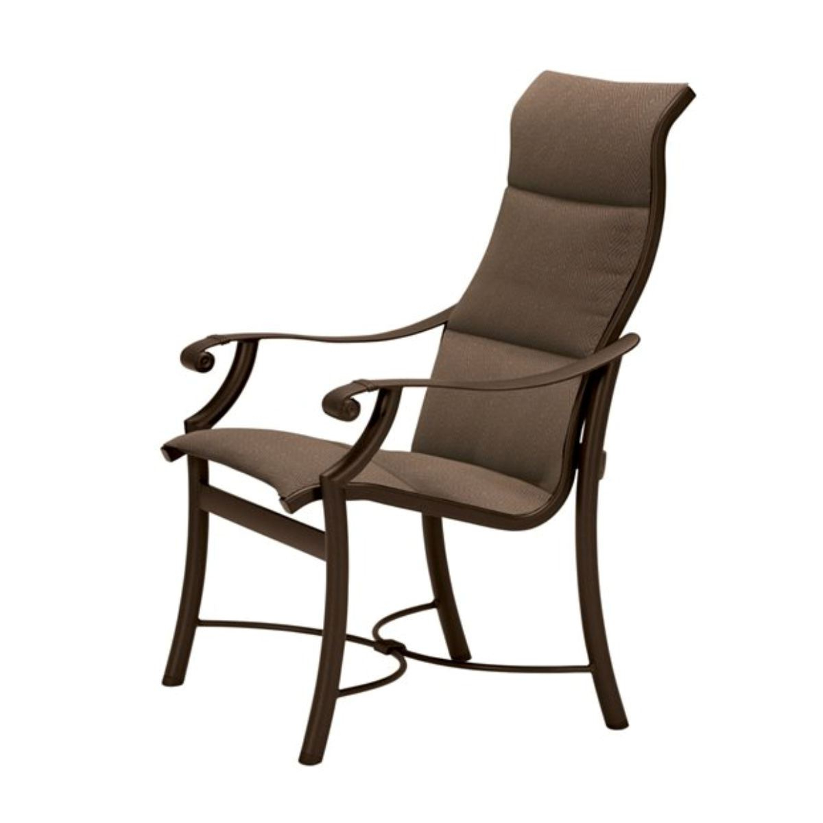 Tropitone Montreux Padded Sling High Back Dining Chair, 17 Lbs. Within Recent Padded Sling Double Gliders (Gallery 28 of 30)