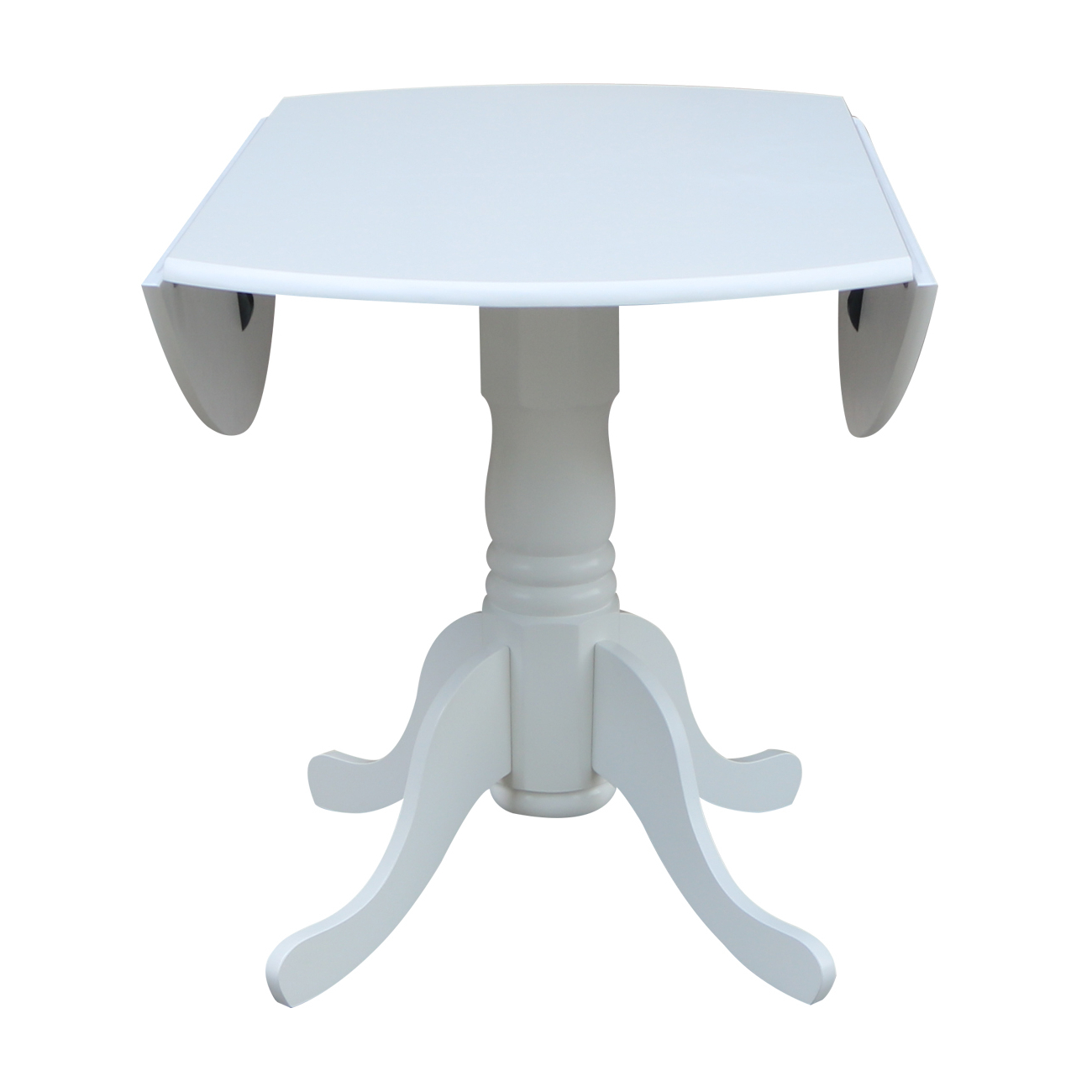 """Unfinished Drop Leaf Casual Dining Tables Pertaining To Most Popular 42"""" Dual Drop Leaf Table – White – Walmart (View 16 of 30)"""