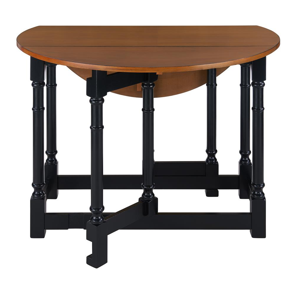 Unfinished Drop Leaf Casual Dining Tables With Regard To Widely Used Southern Enterprises Challa 1 Piece Black Drop Leaf Dining (View 15 of 30)