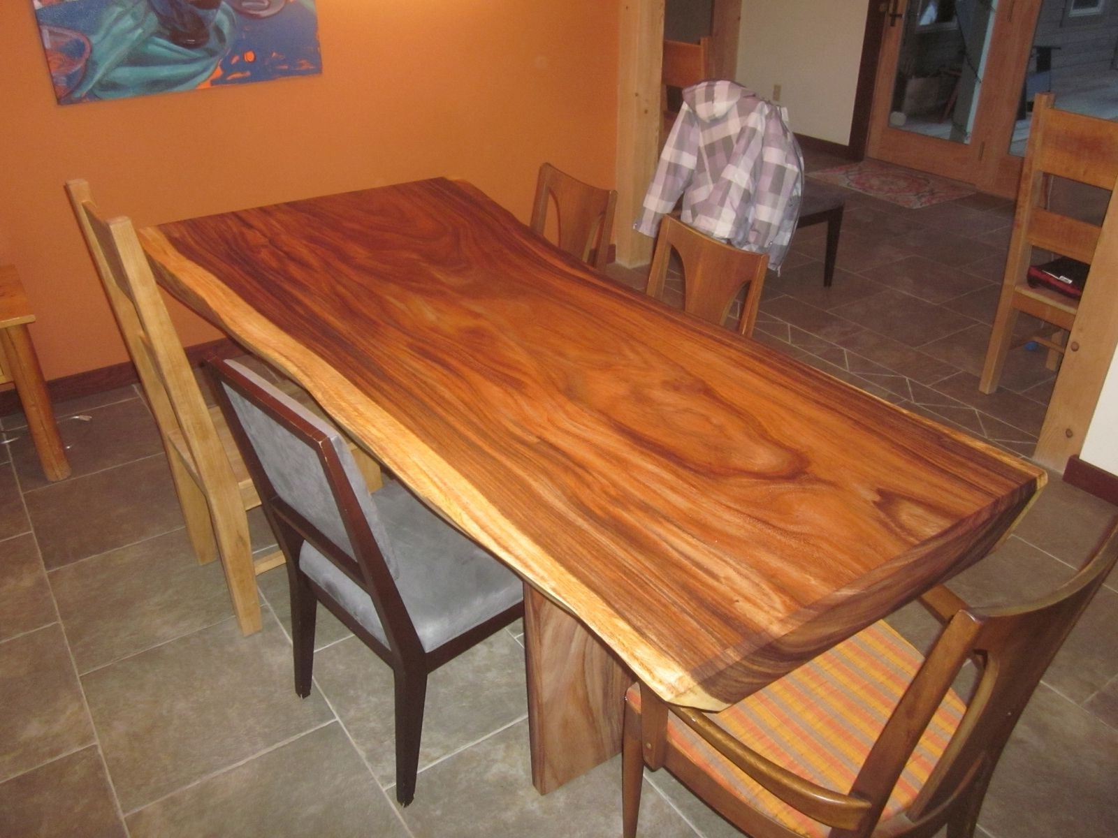 Unique Acacia Wood Dining Tables Throughout 2017 Custom Acacia Slab Dining Tableclean Air Woodworks (View 21 of 30)