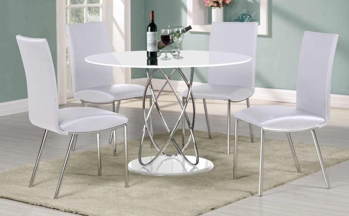 Uniquechic Furniture Eclipse Round White High Gloss Dining Within Most Up To Date Eclipse Dining Tables (View 21 of 30)