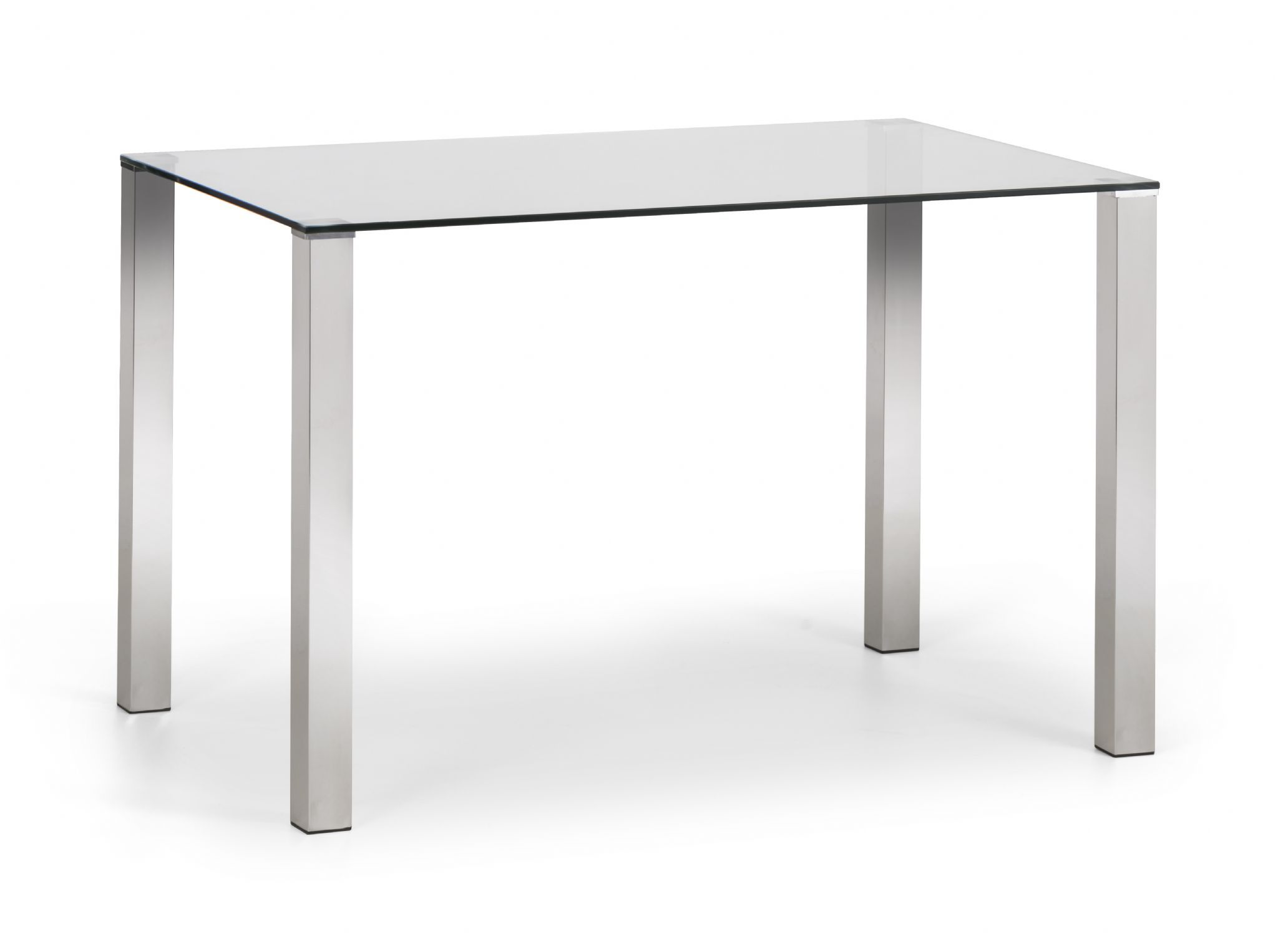 Veneto Modern Chrome & Tempered Glass Dining Table Jb208 Regarding Best And Newest Chrome Dining Tables With Tempered Glass (View 4 of 30)