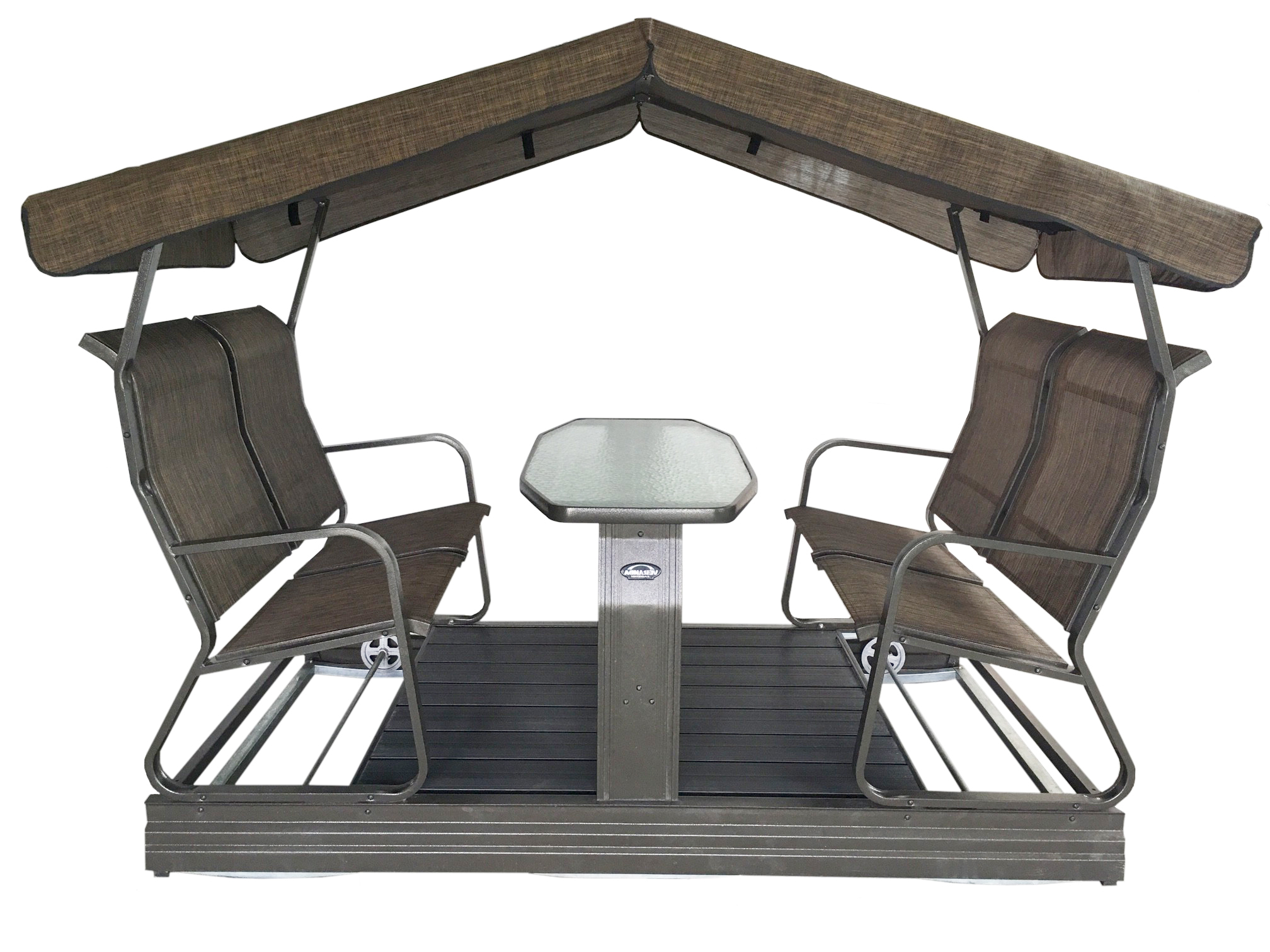 Verano 4 Person Glider – Raber Patio Enclosures & Furniture, Llc Intended For Trendy 1 Person Antique Black Steel Outdoor Gliders (View 19 of 30)
