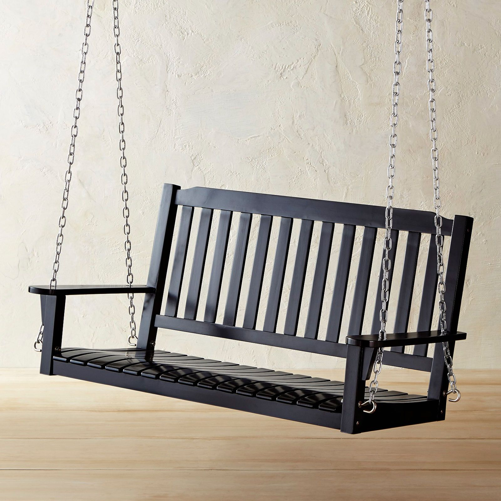 Vineyard 2 Person Black Recycled Plastic Outdoor Swings With Regard To Most Popular Rock Point Black Porch Swing (Gallery 8 of 30)