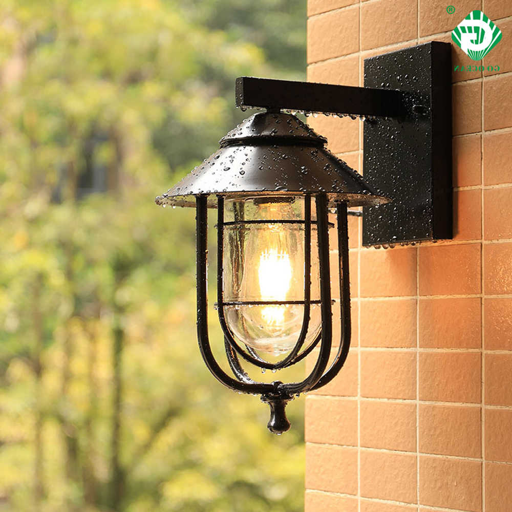 Vintage Outdoor Wall Light Led Waterproof Industrial Decor With Regard To Popular Lamp Outdoor Porch Swings (View 14 of 30)