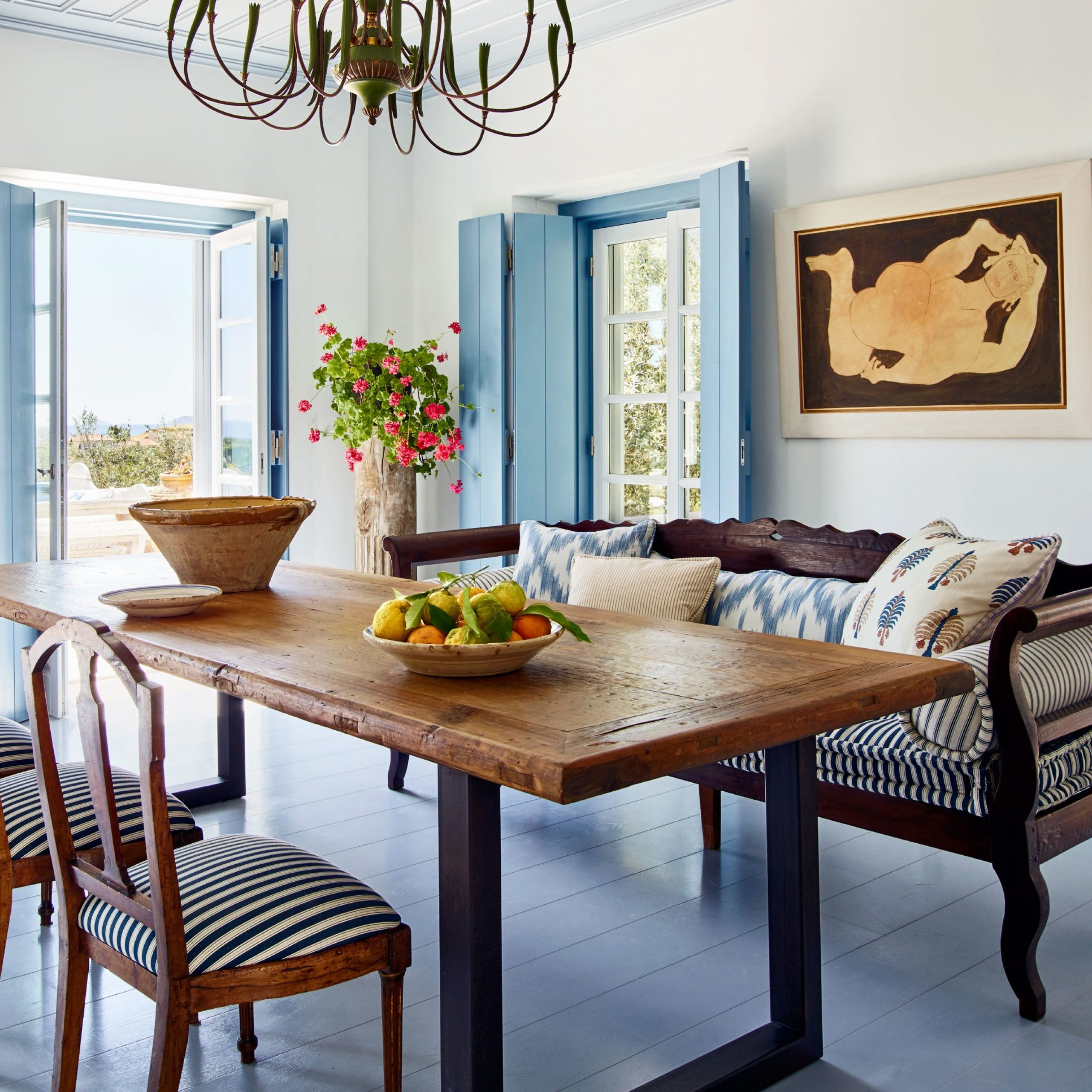 Walnut And Antique White Finish Contemporary Country Dining Tables Regarding Latest Tips To Mix And Match Dining Room Chairs Successfully (View 8 of 30)