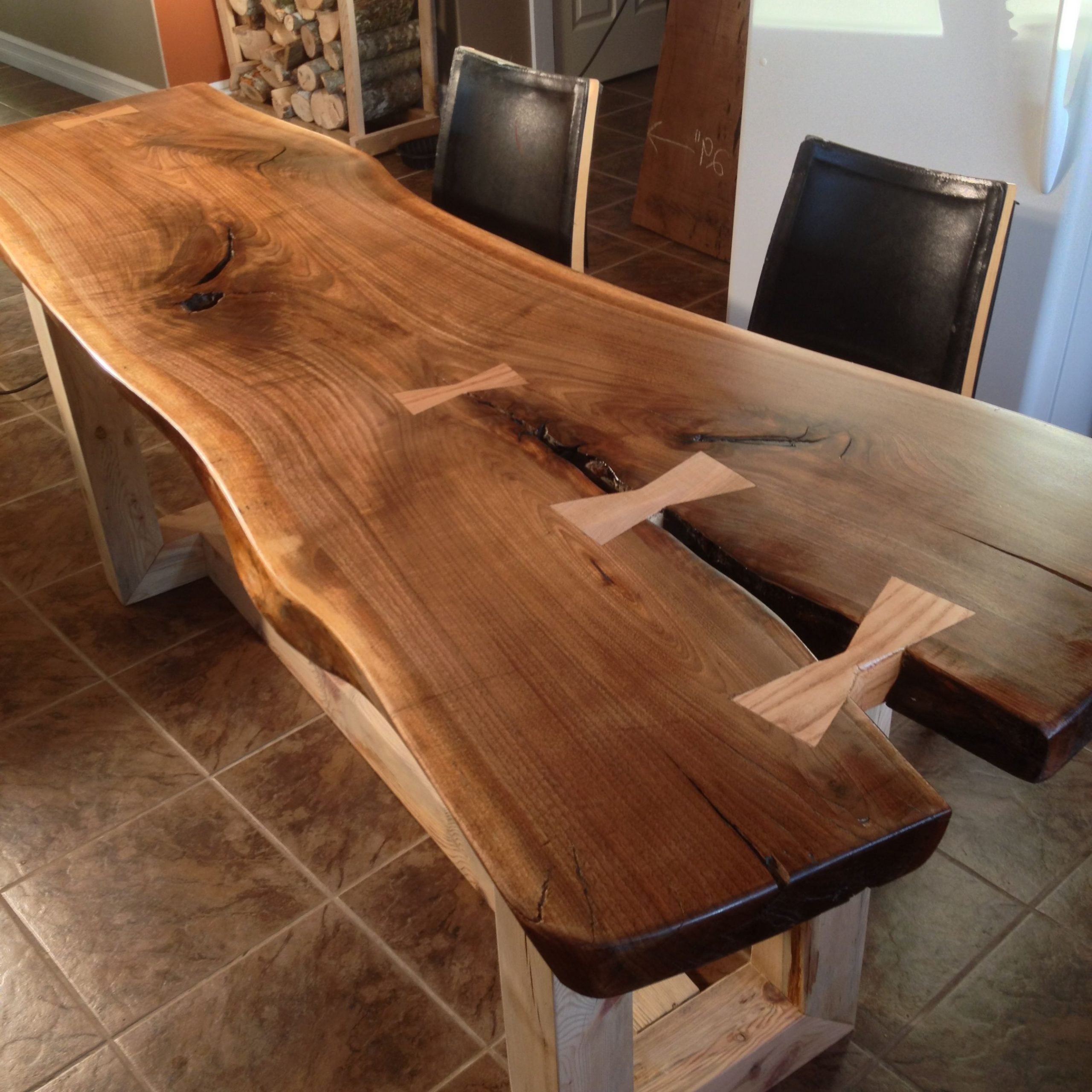 Walnut Finish Live Edge Wood Contemporary Dining Tables Regarding Trendy Live Edge Dining Table – Google Search (View 6 of 30)