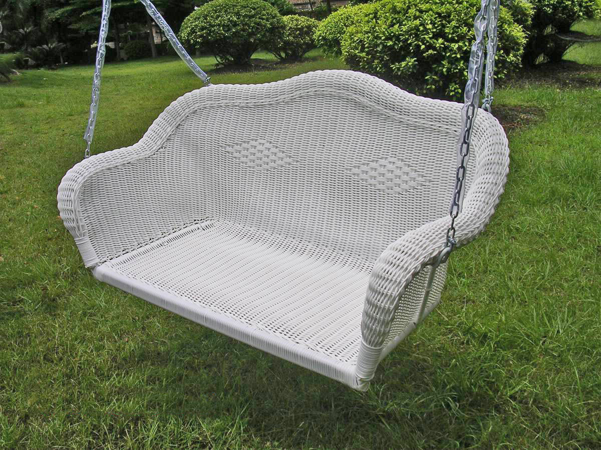 Wayfair Within Newest Outdoor Wicker Plastic Half Moon Leaf Shape Porch Swings (View 9 of 30)